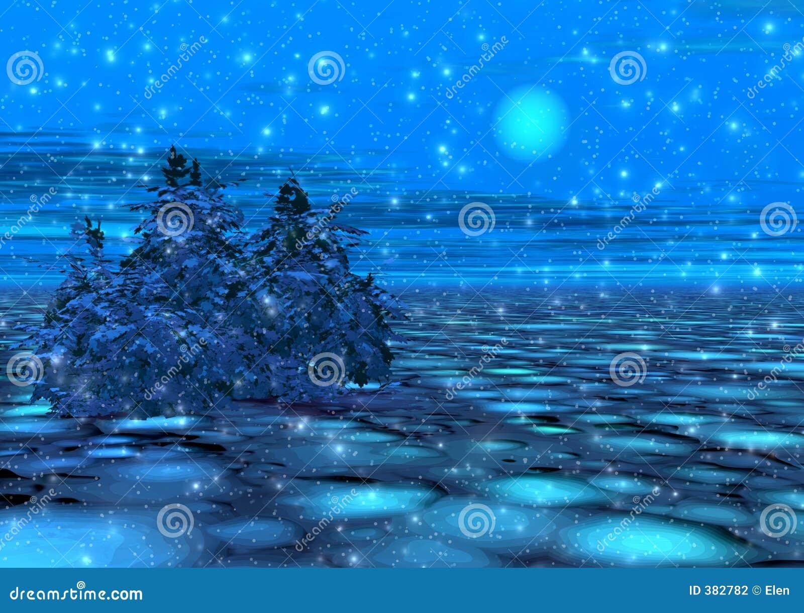 φανταστικός χειμώνας σεληνόφωτου