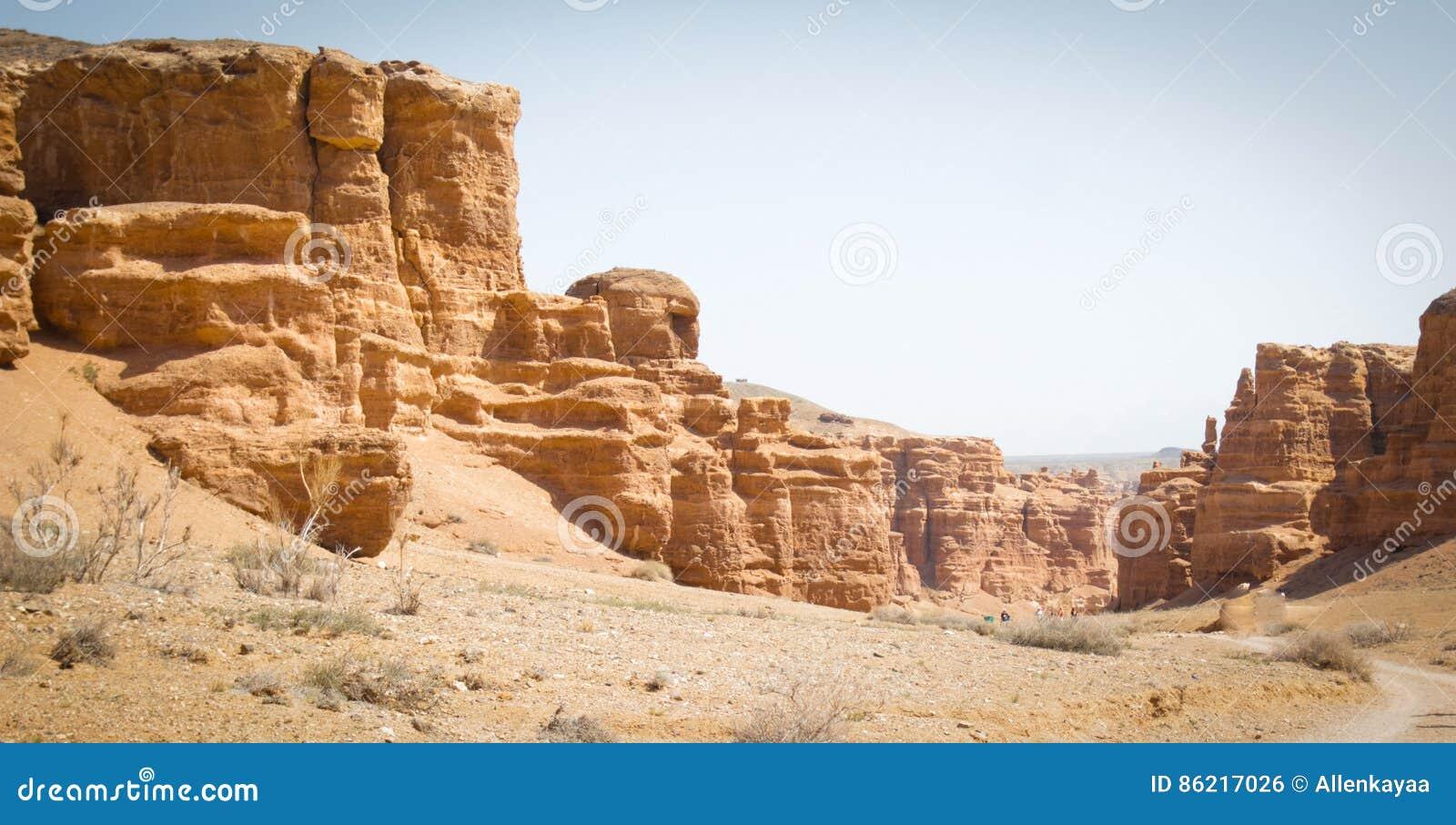 φαράγγι charyn Καζακστάν Η κοιλάδα των κάστρων