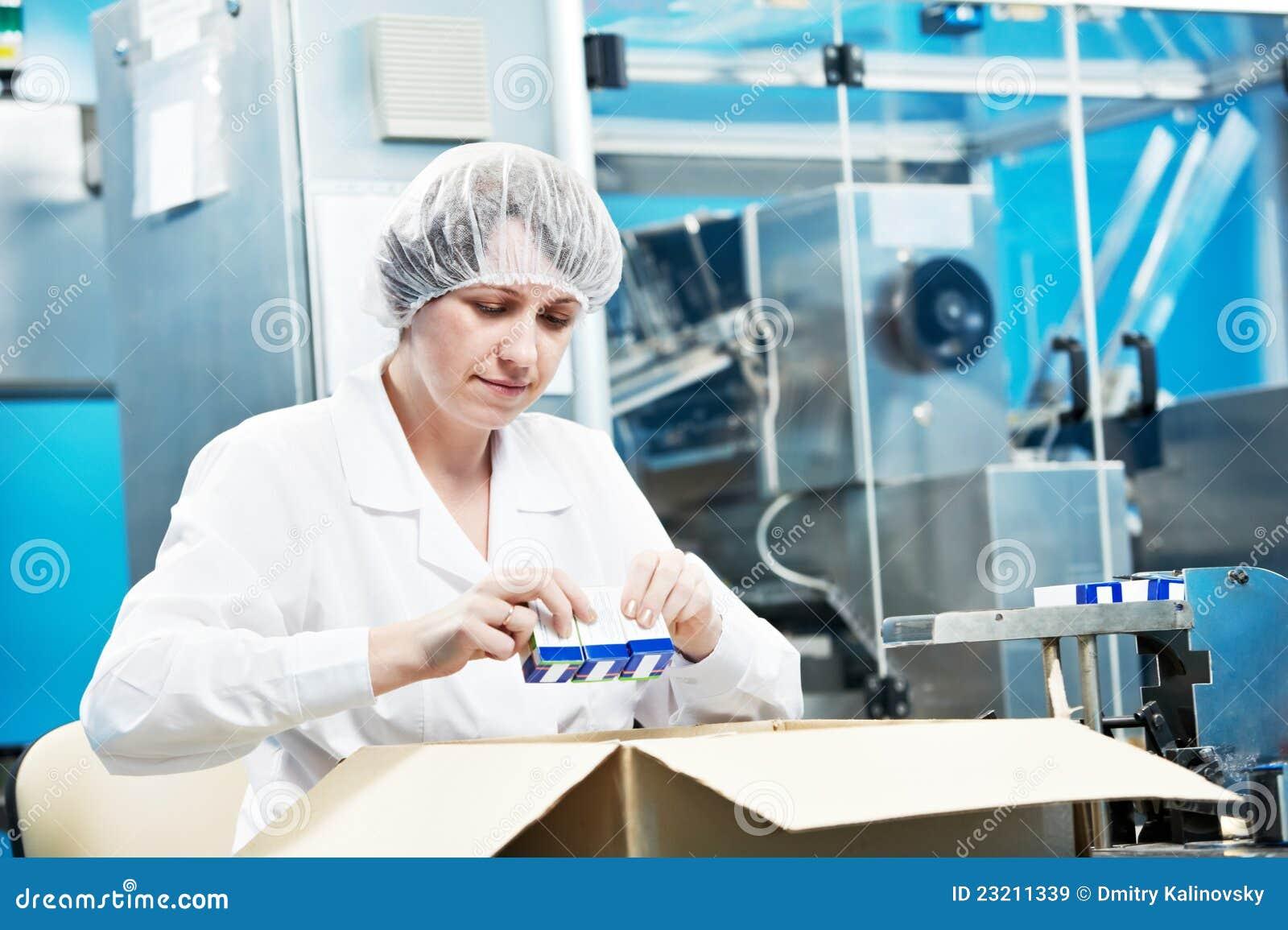 φαρμακευτικός εργαζόμενος εργοστασίων