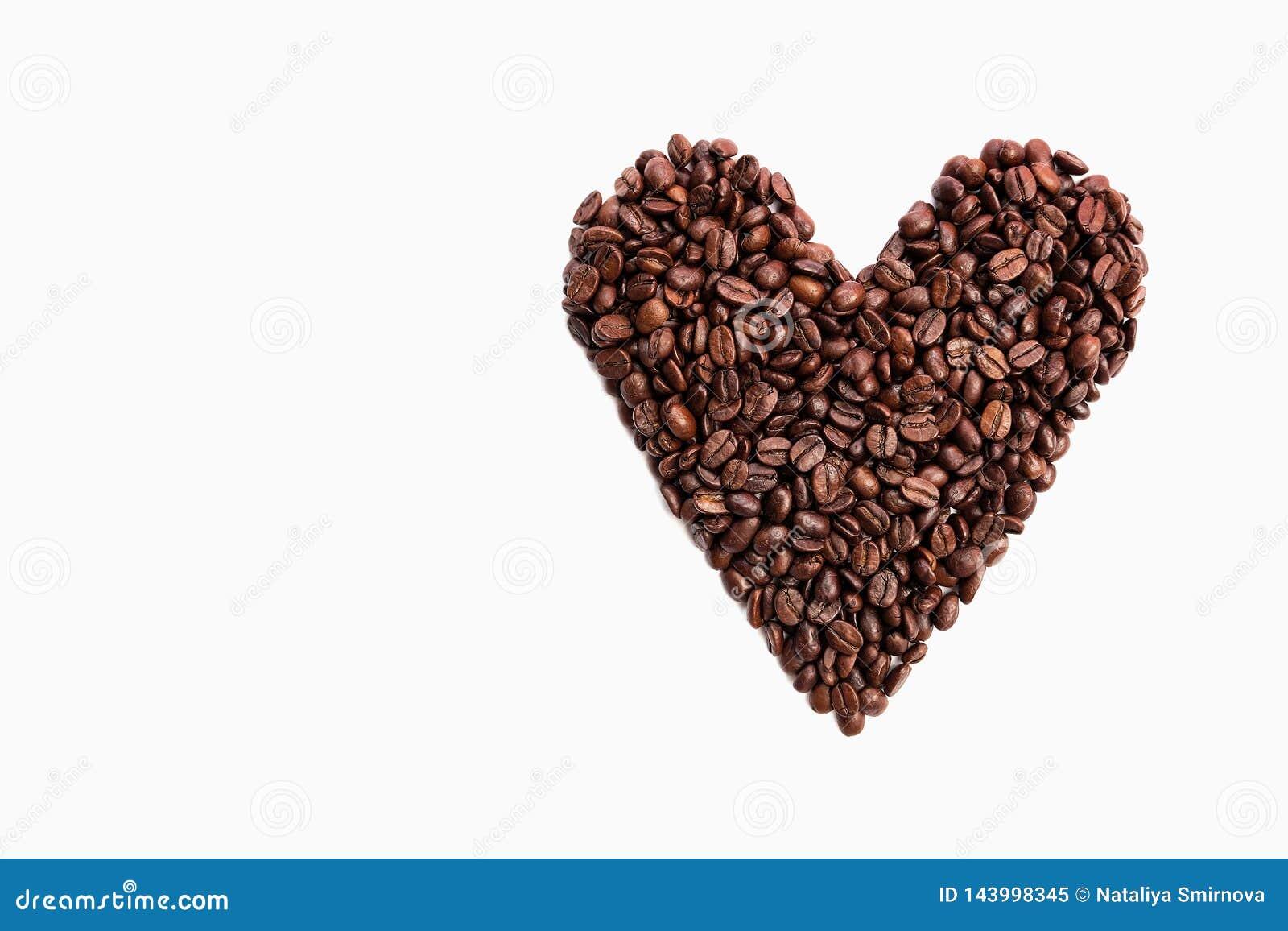 Φασόλια καφέ μορφής καρδιών