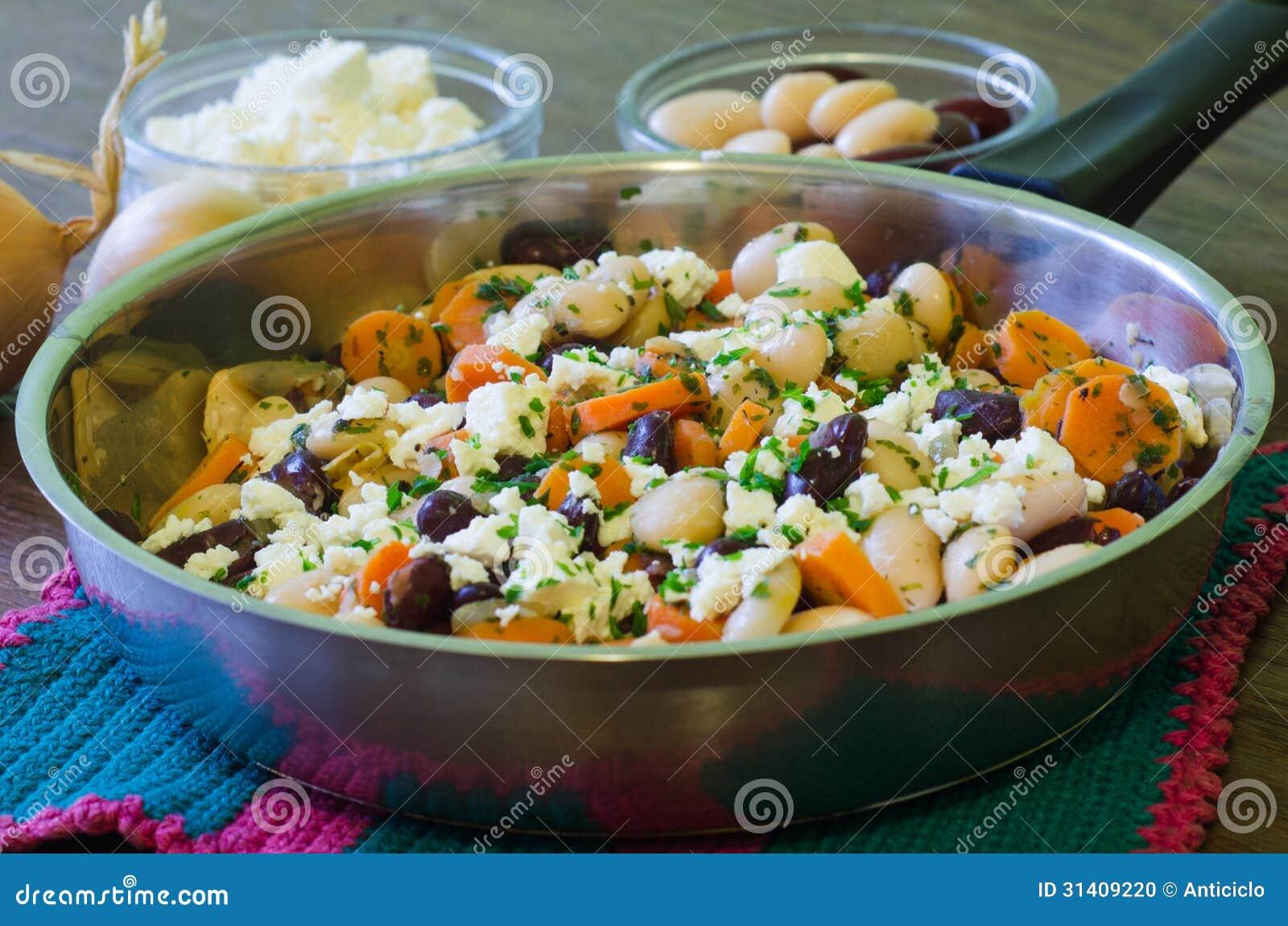 Φασόλια με το τυρί φέτας
