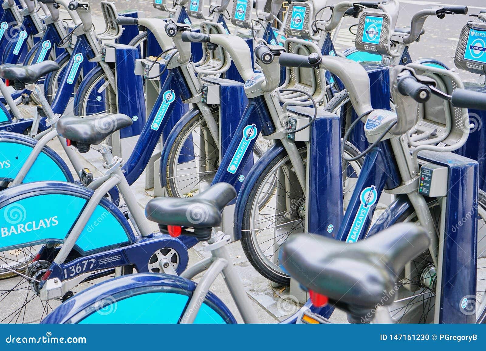 Φιλική αποθήκη ενοικίου ποδηλάτων Eco στο κεντρικό Λονδίνο