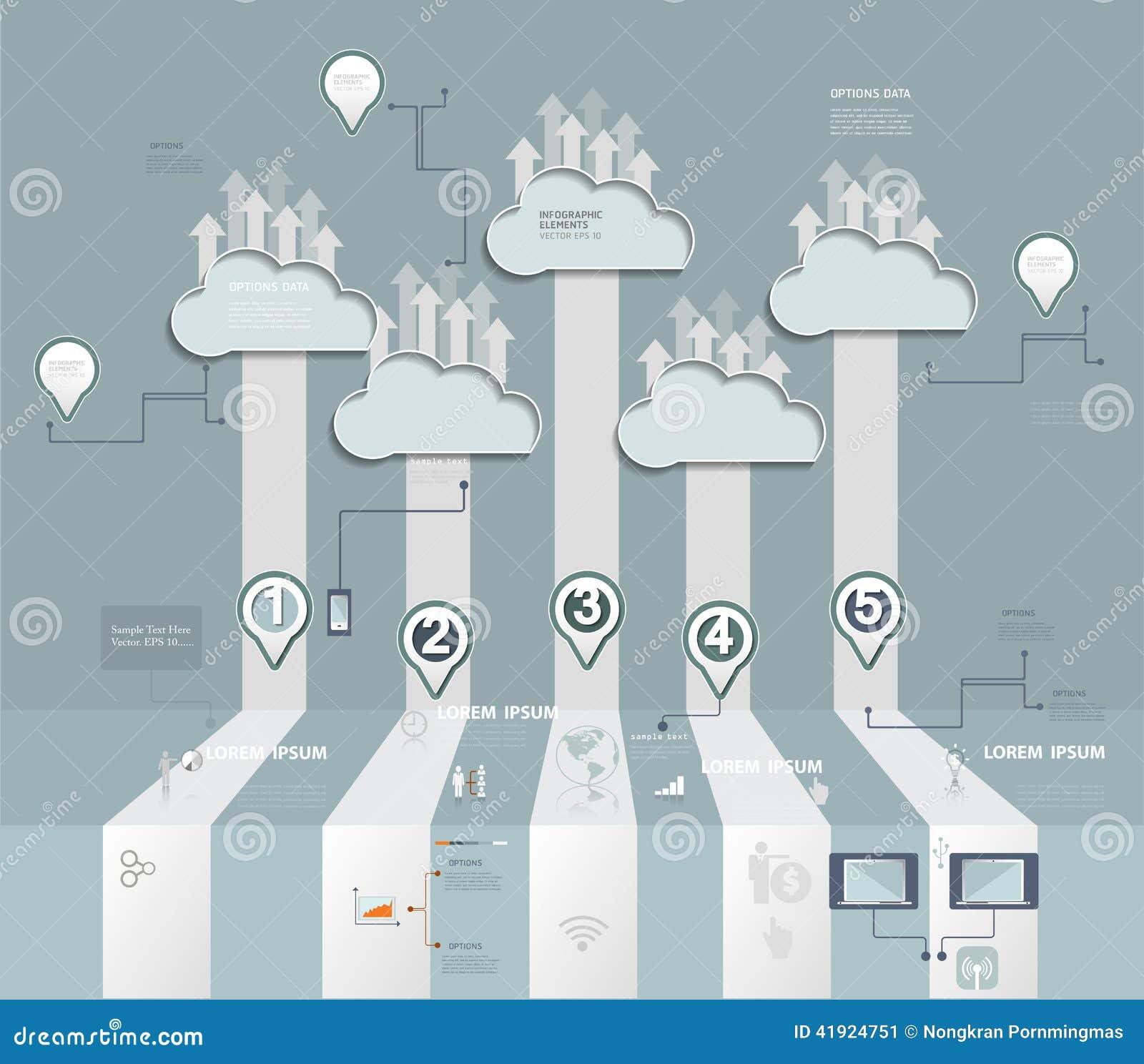 Φιλοξενία σύννεφων Έννοια υπολογισμού σύννεφων με το εικονίδιο, κοινωνική ομάδα δικτύων