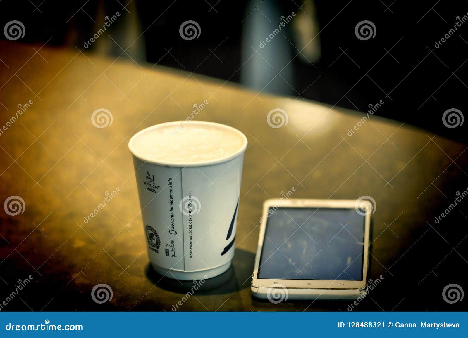 Φλυτζάνι εγγράφου, φλιτζάνι του καφέ, McDonalds, Αννόβερο Γερμανία Hannove