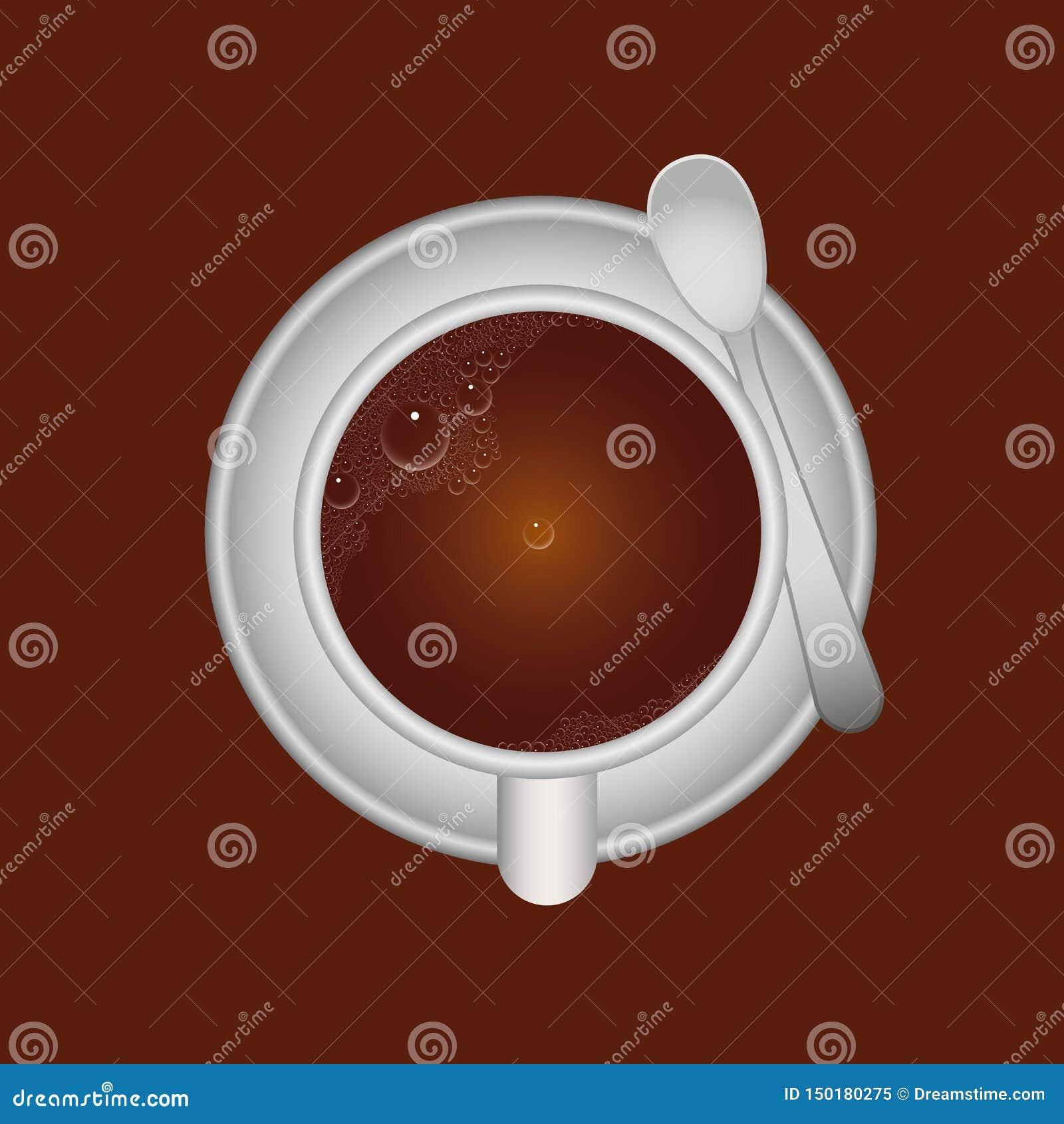Φλυτζάνι και κουτάλι καφέ