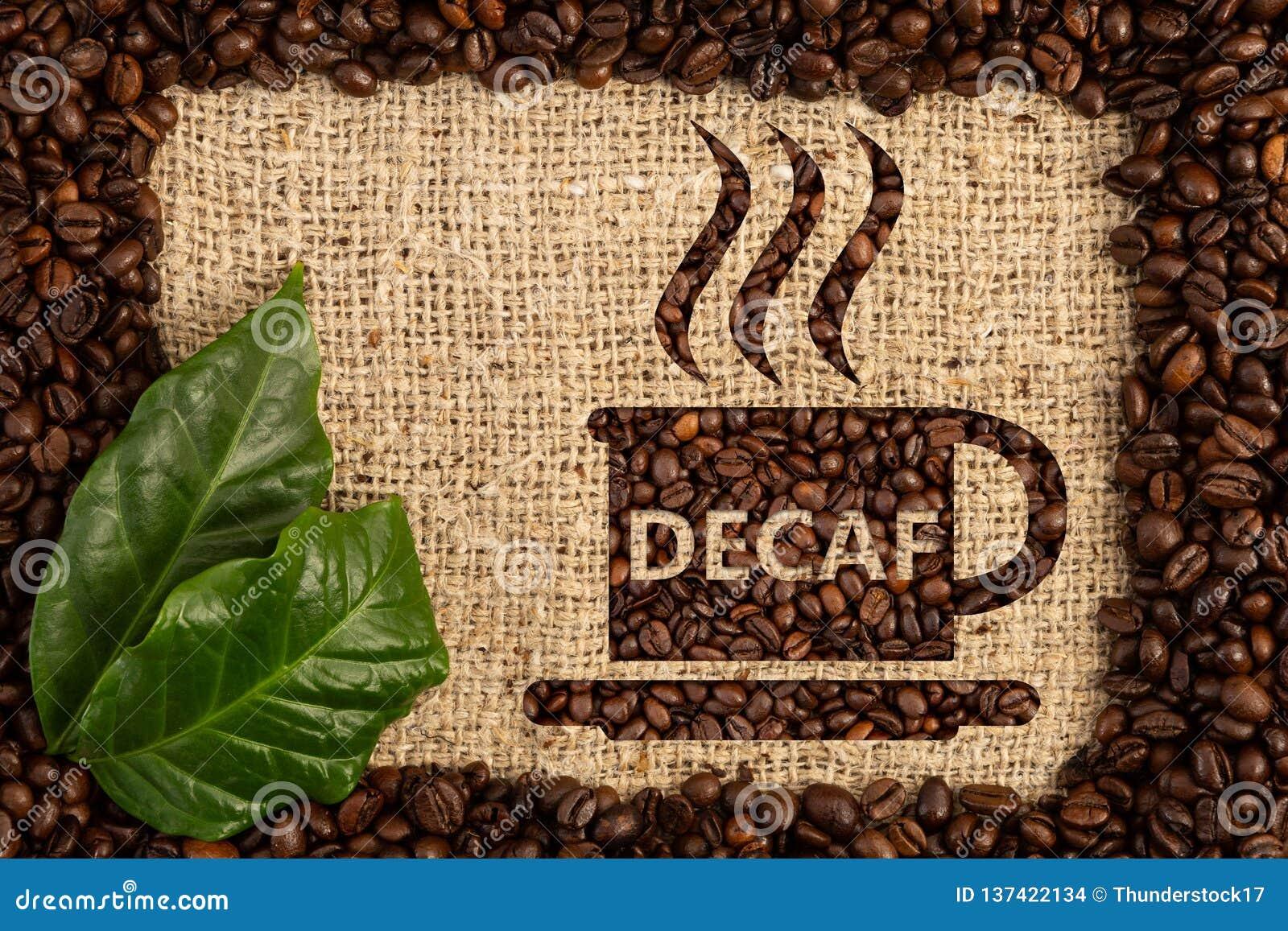 Φλυτζάνι με το κείμενο decaf γραπτό