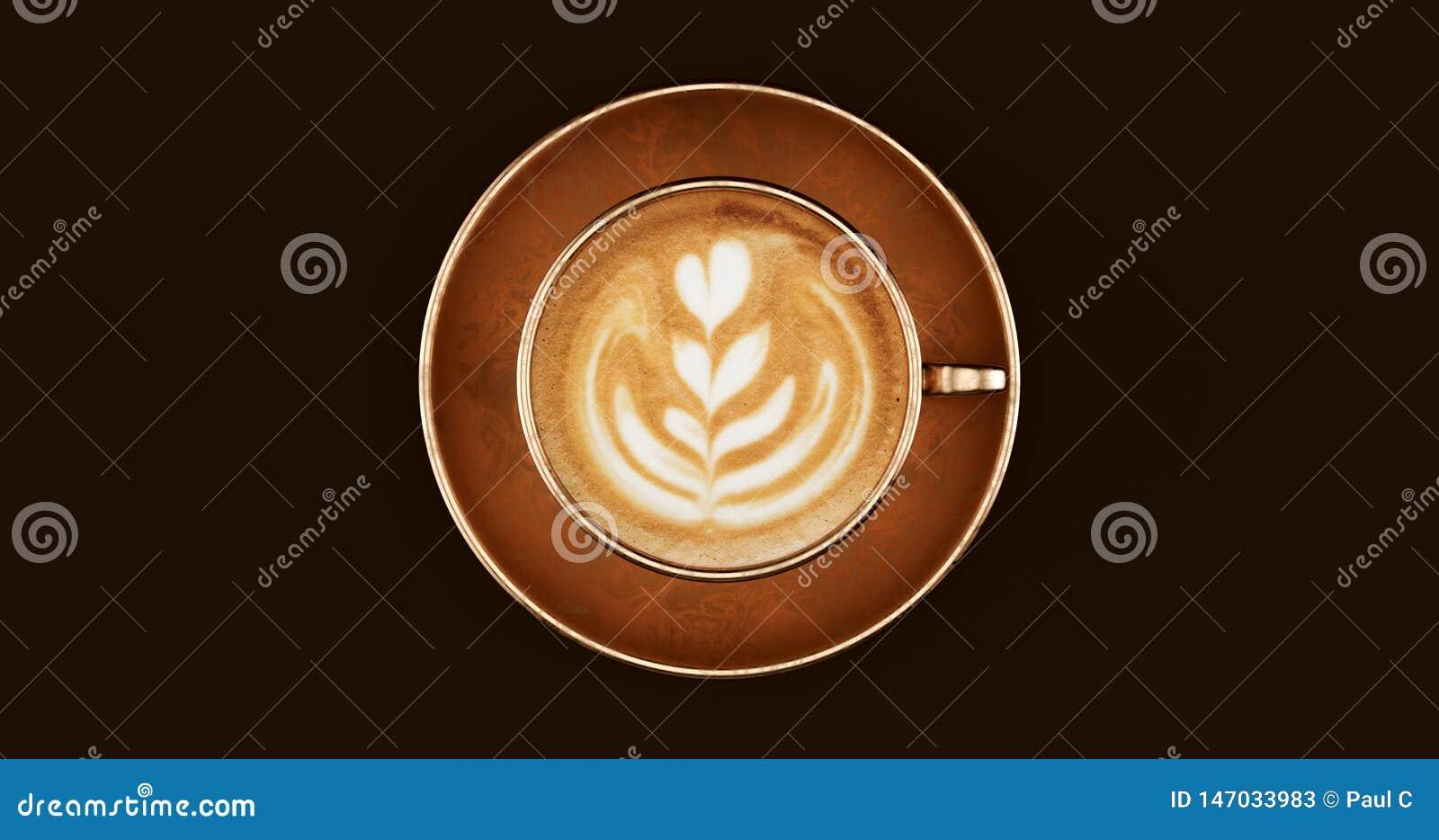 Φλυτζάνι Cappuccino καφέ ορείχαλκου χαλκού