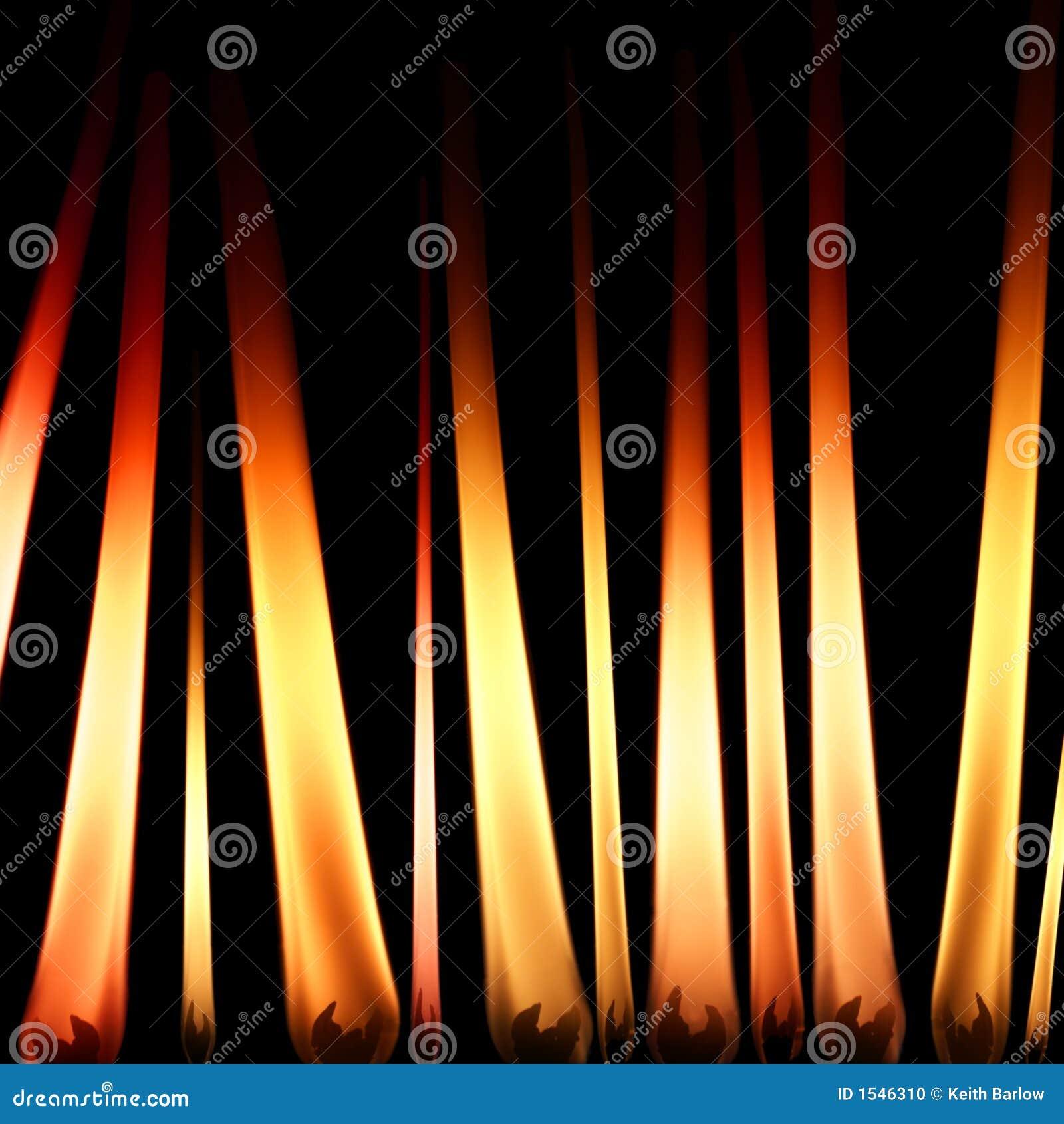 φλόγες κεριών