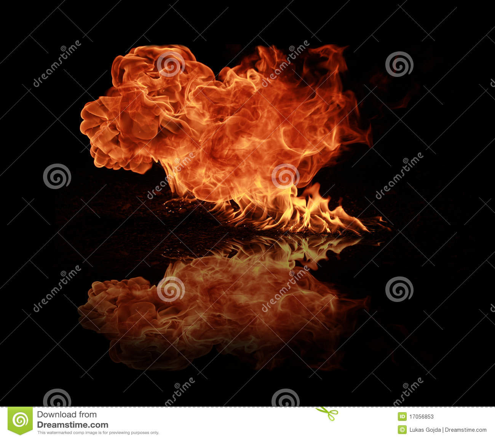 φλόγες πυρκαγιάς