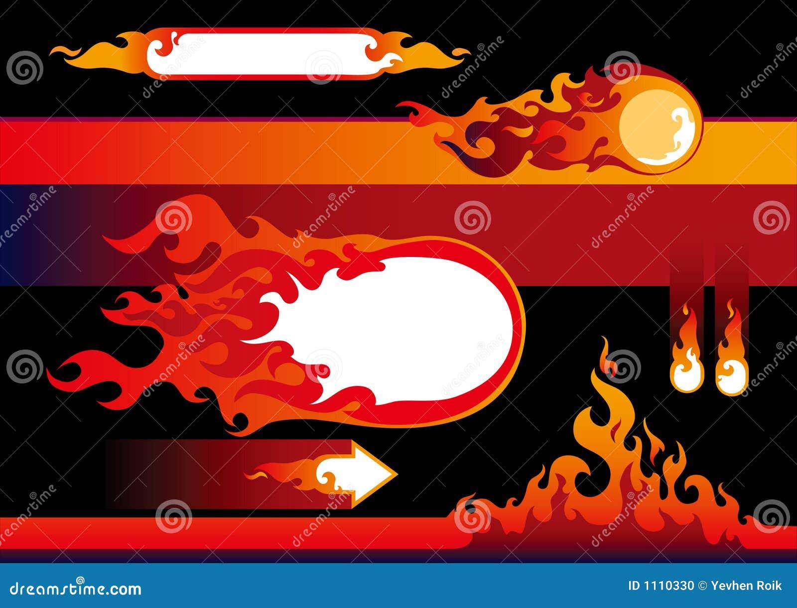 φλόγες στοιχείων σχεδίου