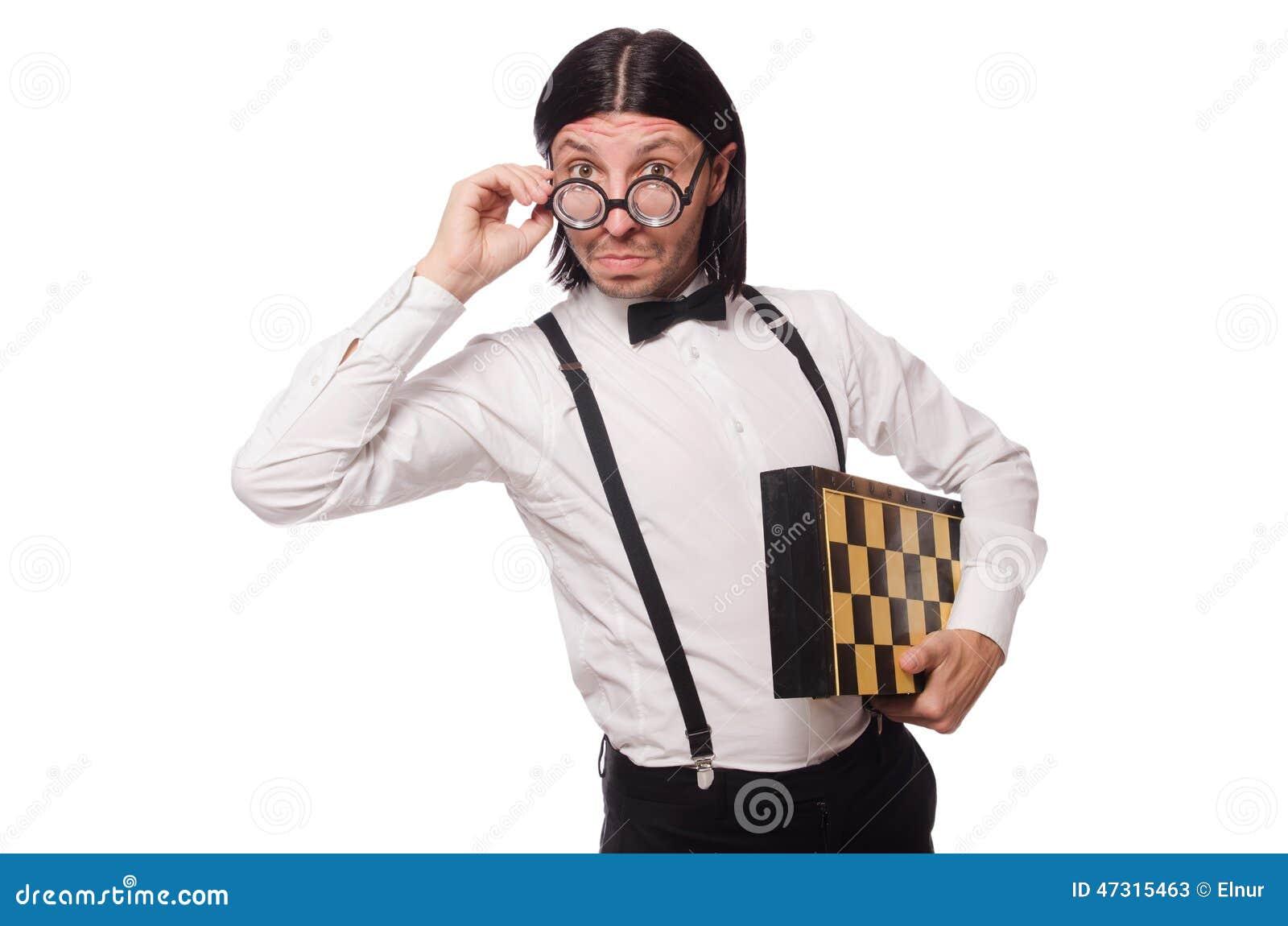 Φορέας σκακιού Nerd που απομονώνεται
