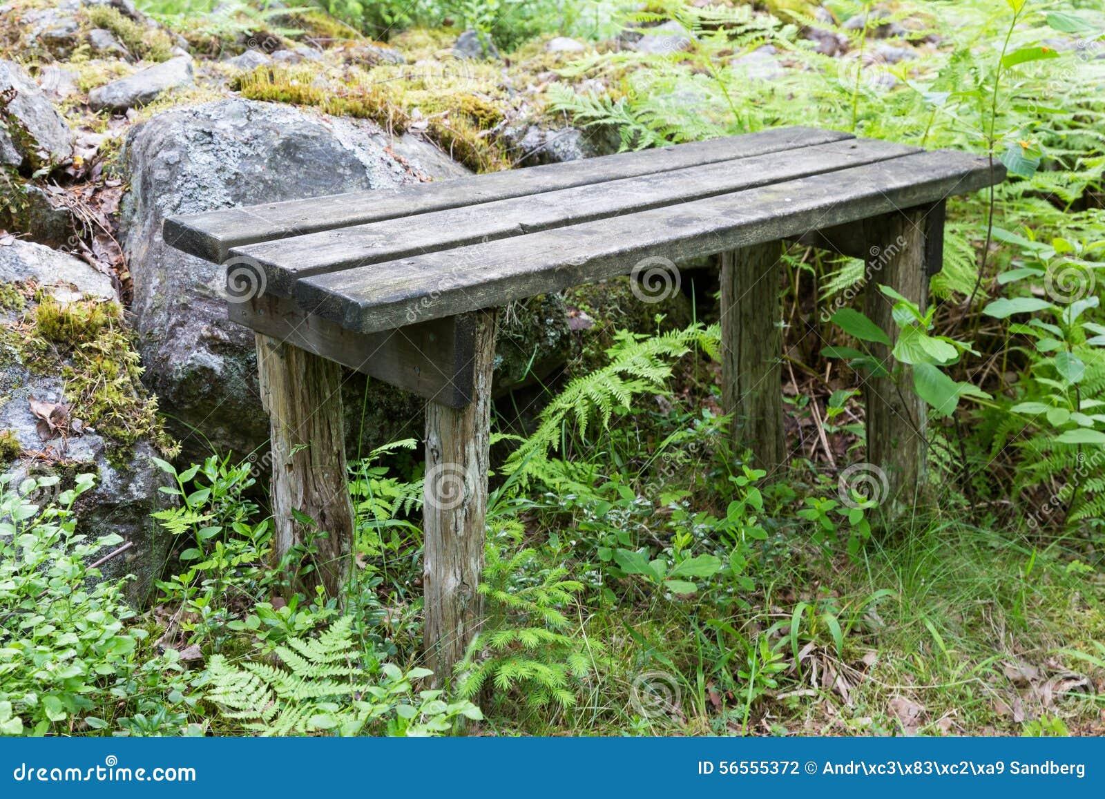 Download Φορεμένος ξύλινος πάγκος στο δάσος Στοκ Εικόνες - εικόνα από τοπίο, κανένας: 56555372