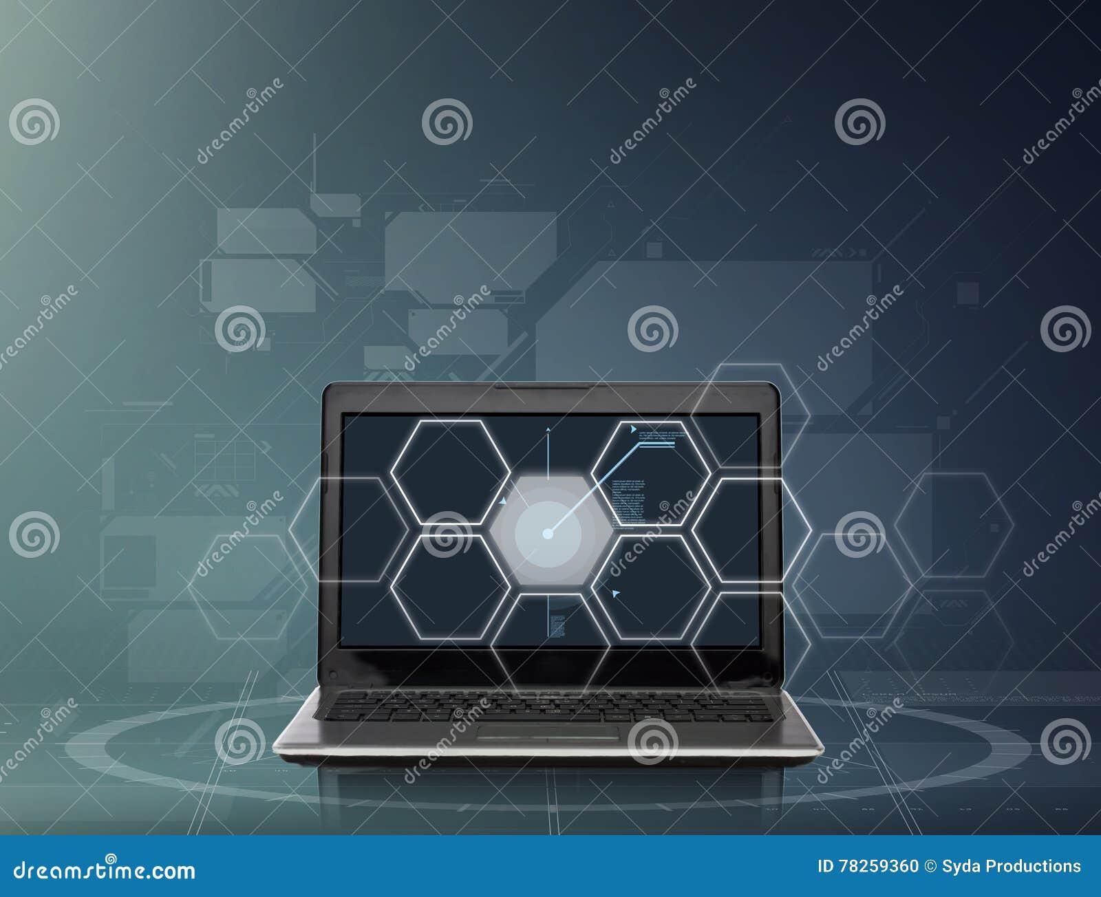 Φορητός προσωπικός υπολογιστής με την οθόνη