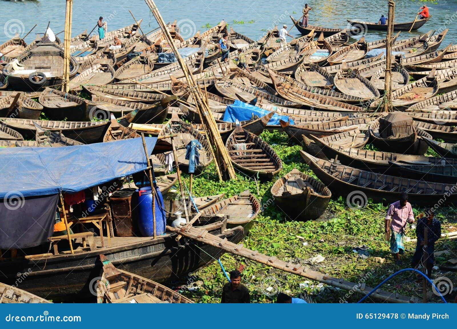 Φορτία του ποταμού Buriganga βαρκών, Dhaka
