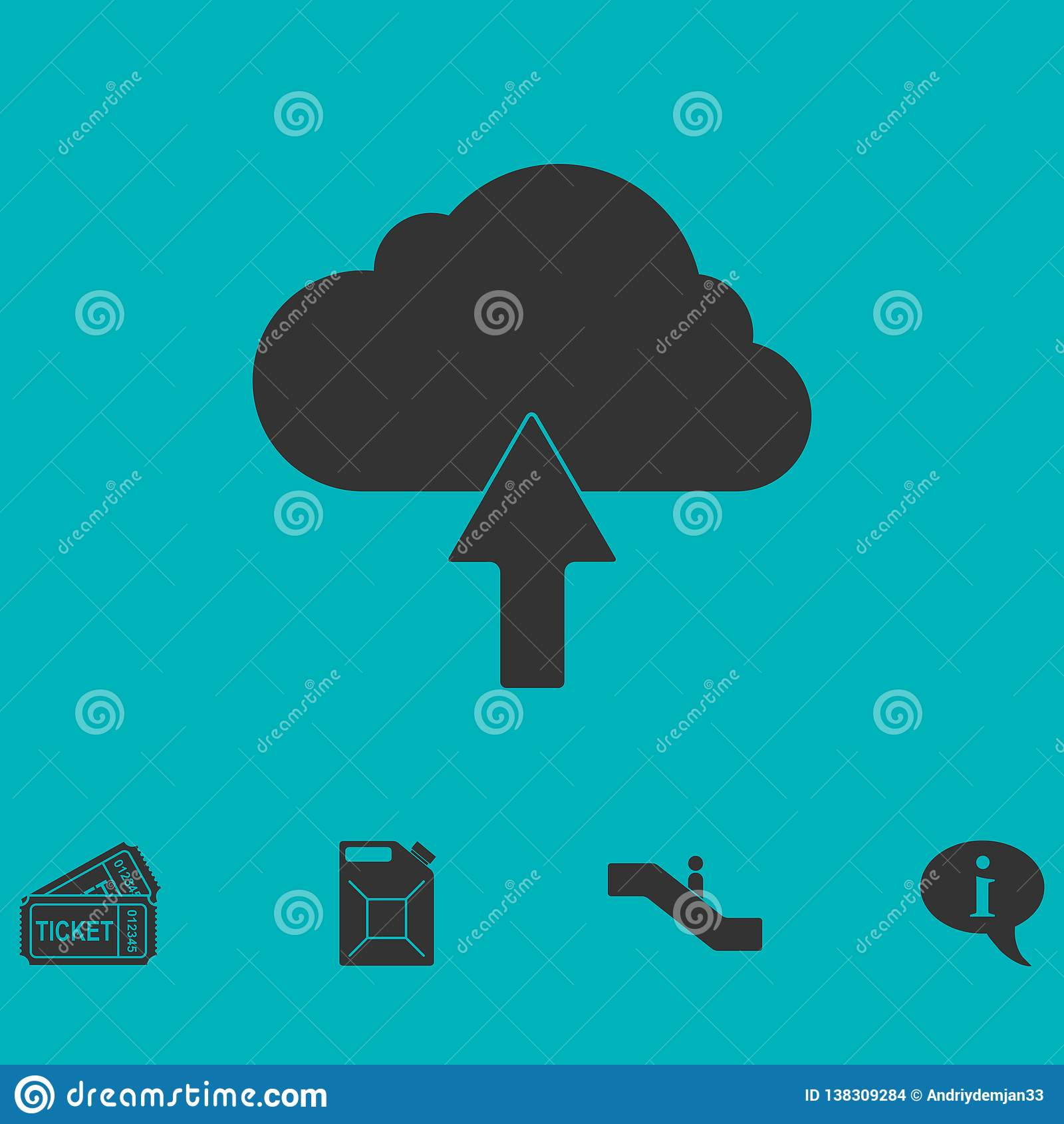 Φορτώστε το επίπεδο εικονιδίων σύννεφων