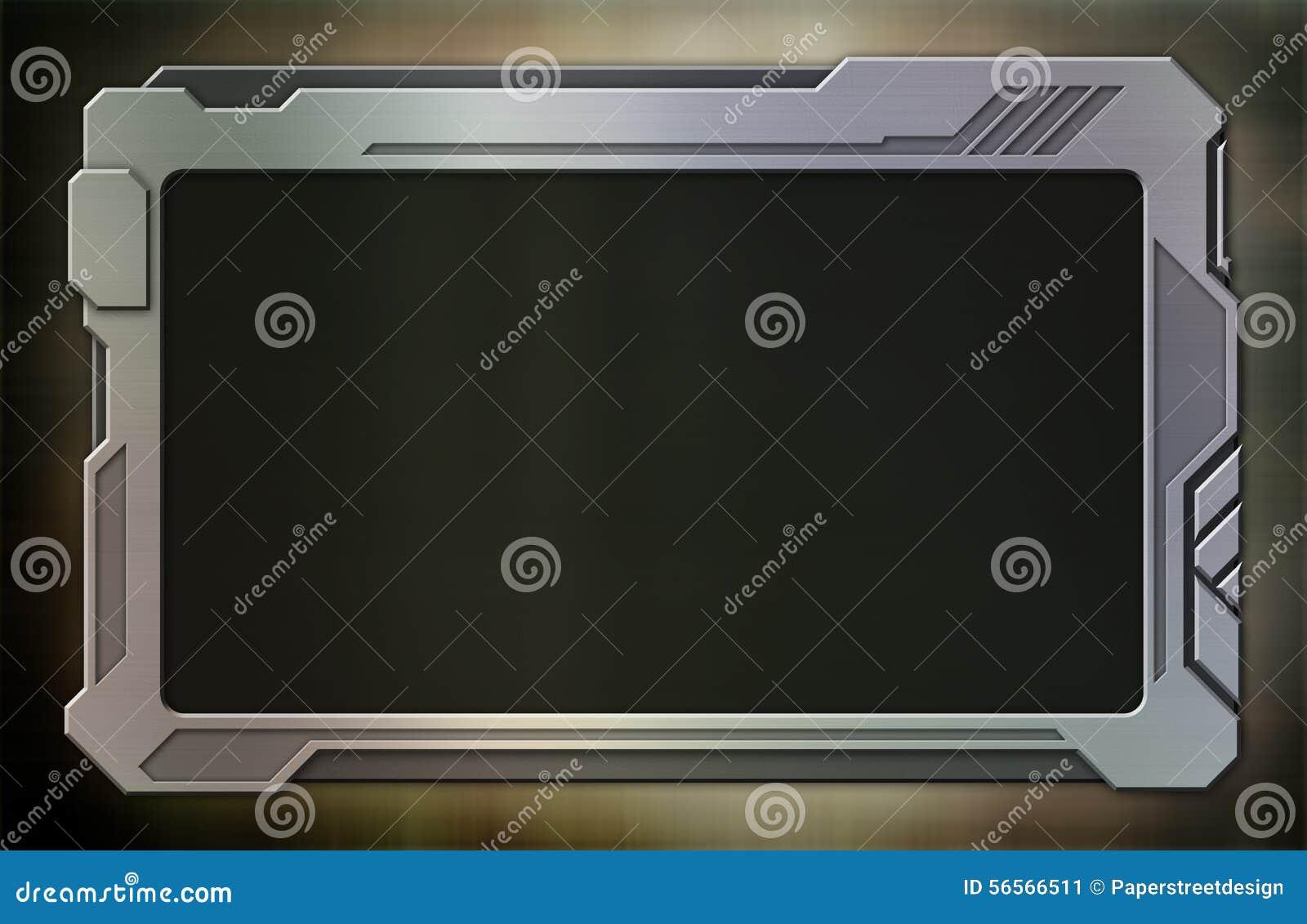 Download Φουτουριστική βουρτσισμένη συσκευή ταμπλετών αργιλίου Απεικόνιση αποθεμάτων - εικονογραφία από υπολογιστής, σχέδιο: 56566511