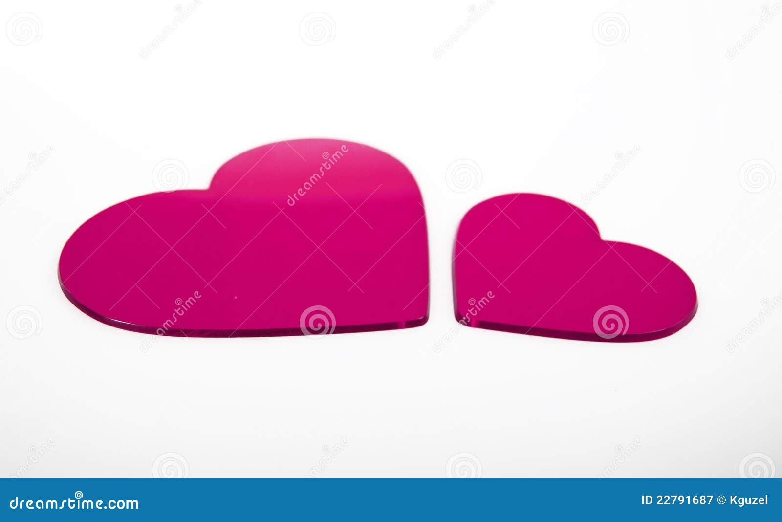 φούξια καρδιές δύο