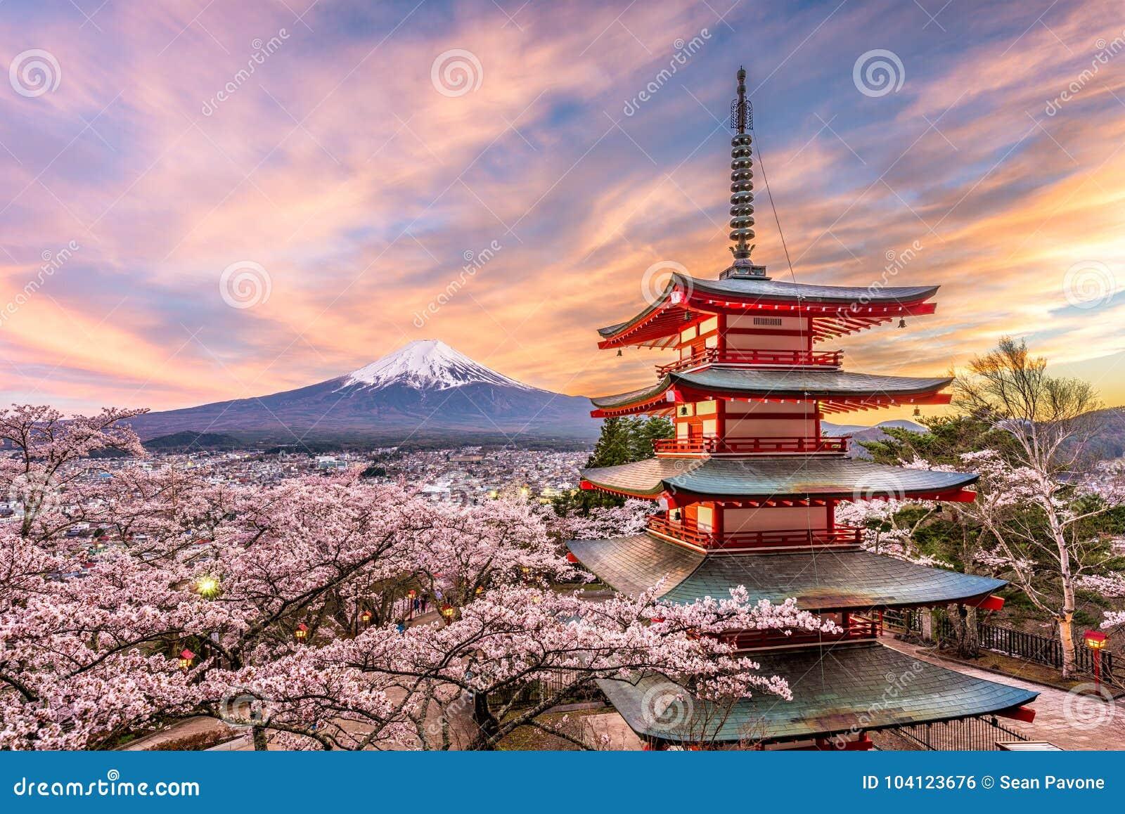 Φούτζι Ιαπωνία την άνοιξη