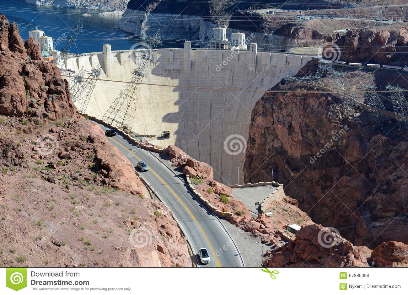 Φράγμα Hoover, ένα ογκώδες υδροηλεκτρικό ορόσημο εφαρμοσμένης μηχανικής που βρίσκεται στα σύνορα της Νεβάδας και της Αριζόνα