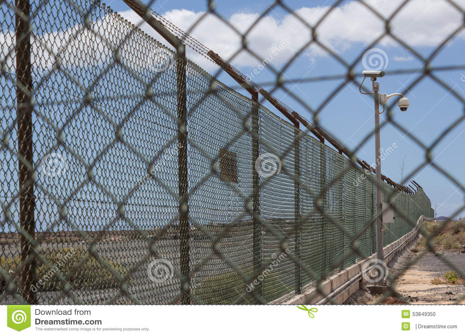 Φράκτης/σύνορα Barbwire