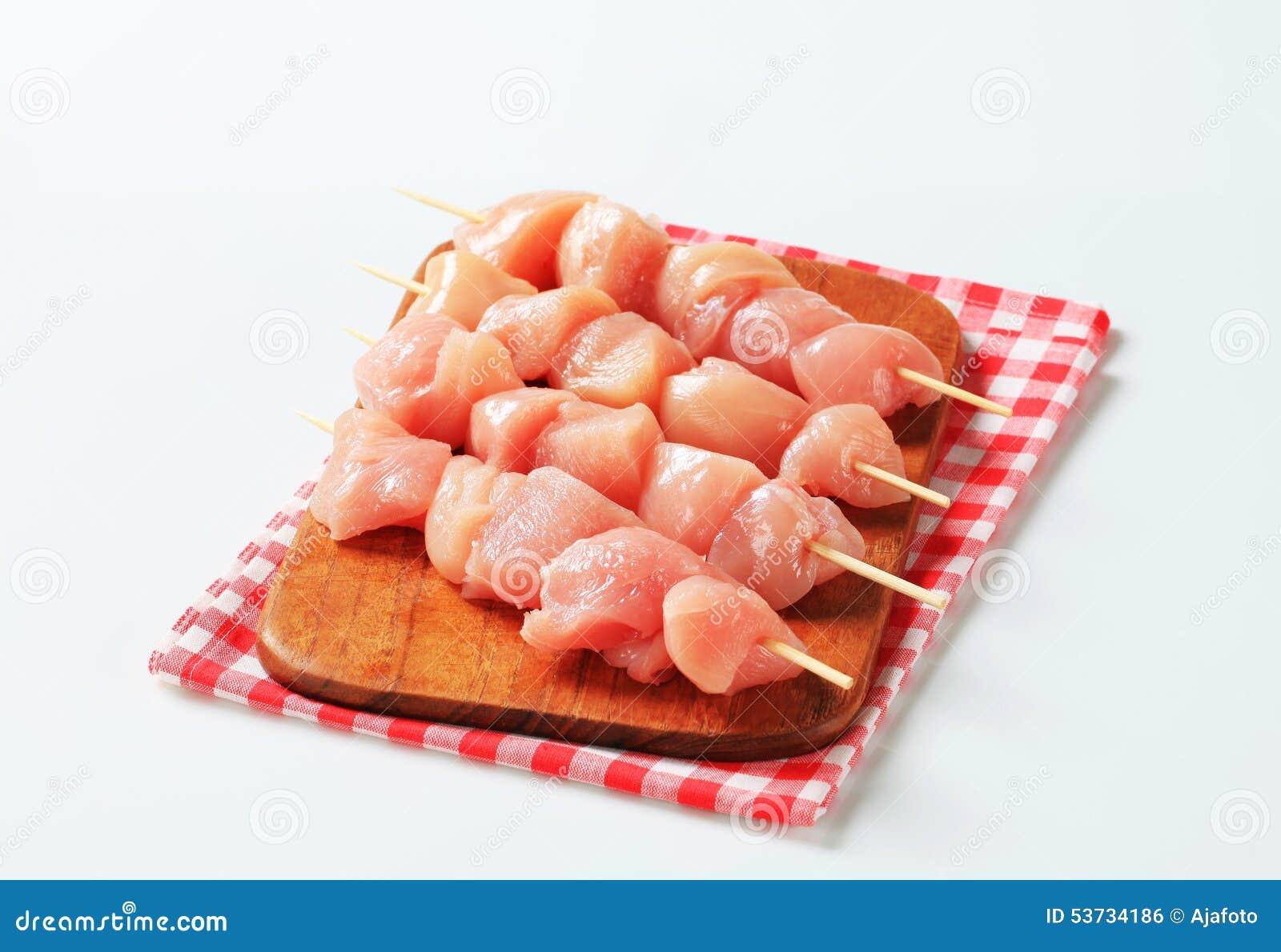 φρέσκα οβελίδια κοτόπουλου