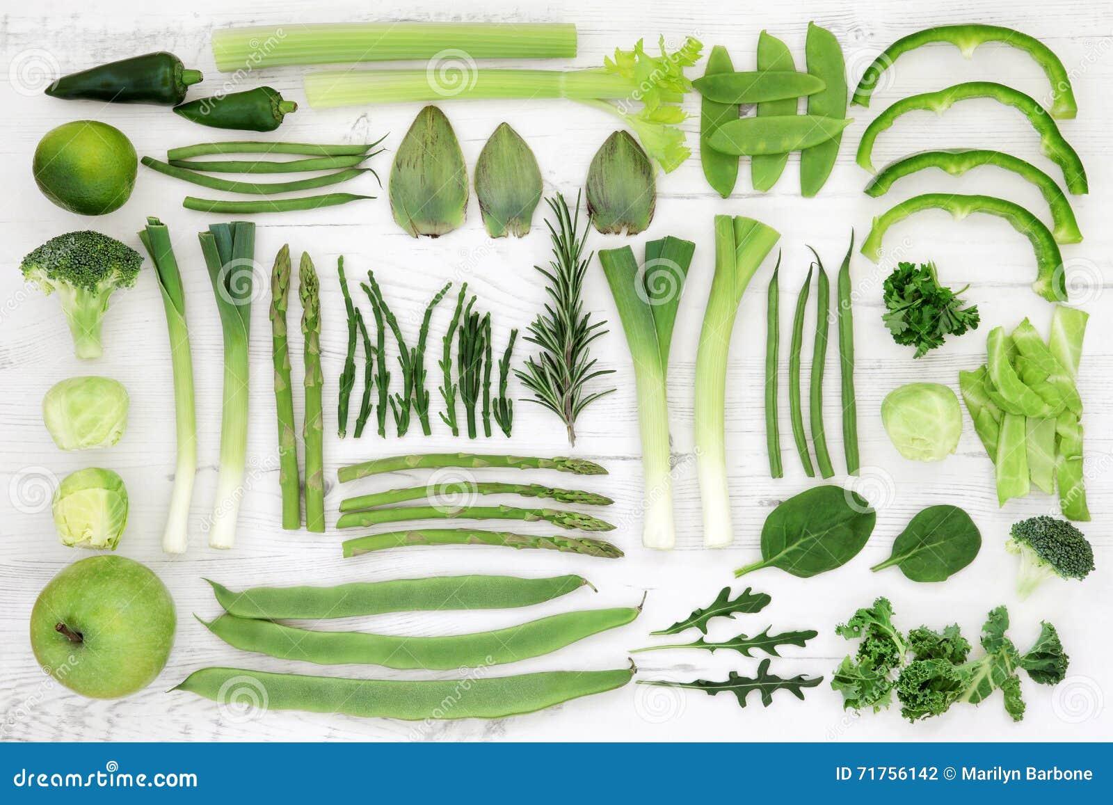Φρέσκα πράσινα έξοχα τρόφιμα