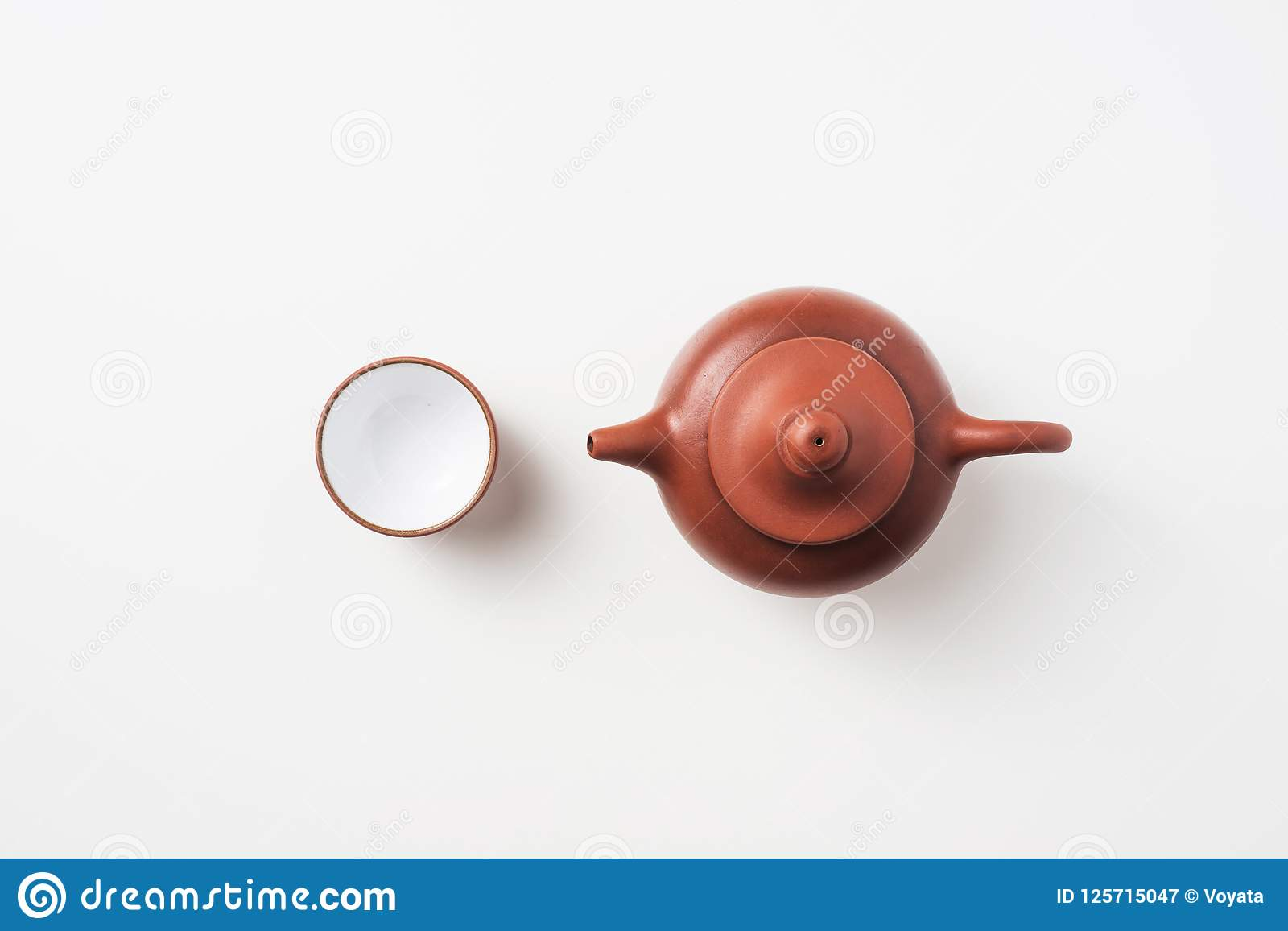 Φρέσκα τσάι και teapot της Ταϊβάν oolong