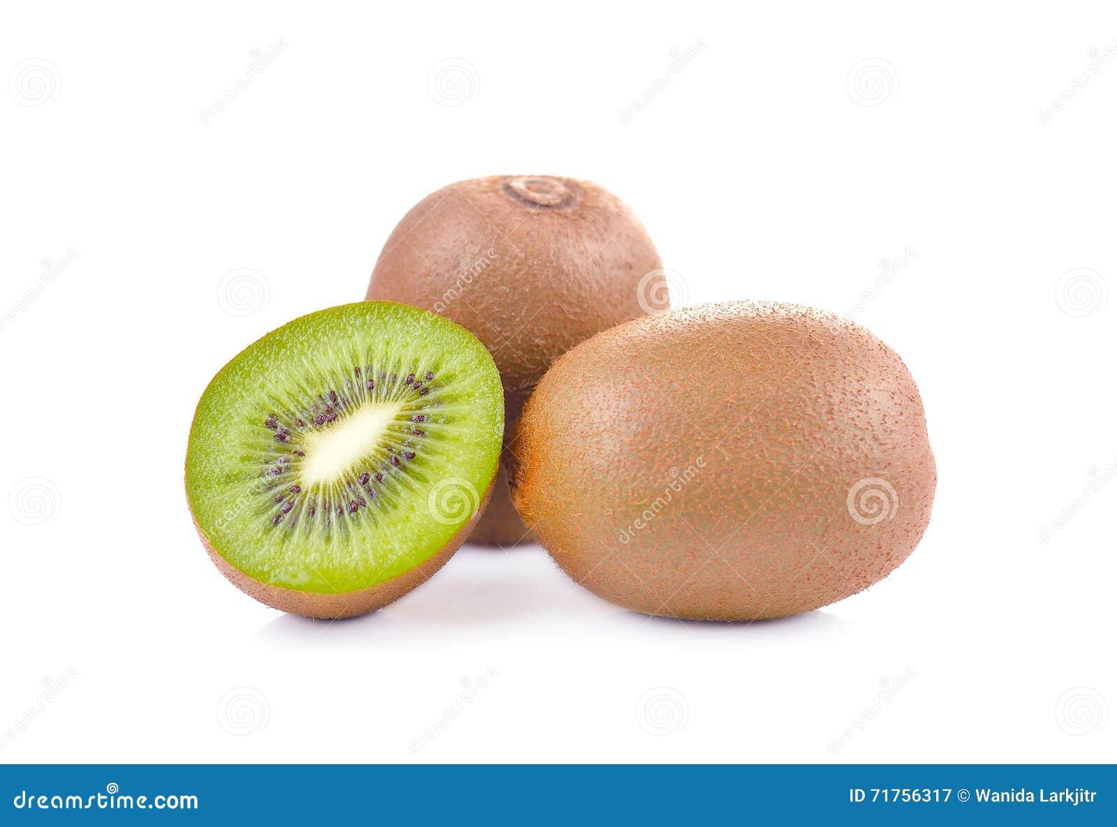 Φρέσκα φρούτα kivi σε ένα άσπρο υπόβαθρο