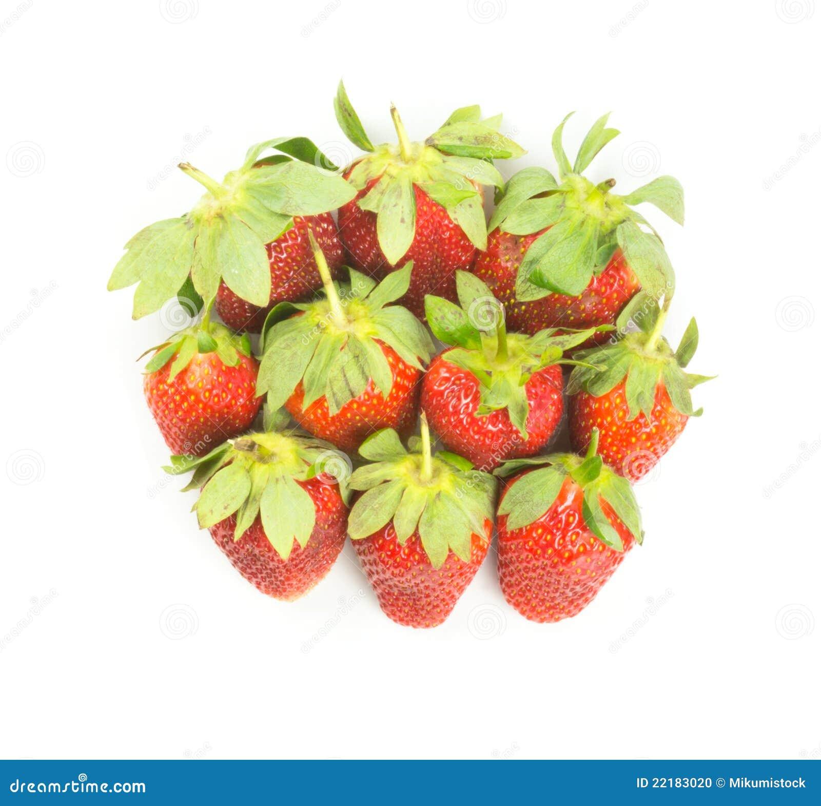 φρέσκες κόκκινες φράουλ