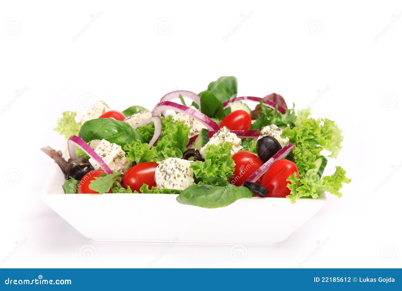 φρέσκια ελληνική σαλάτα