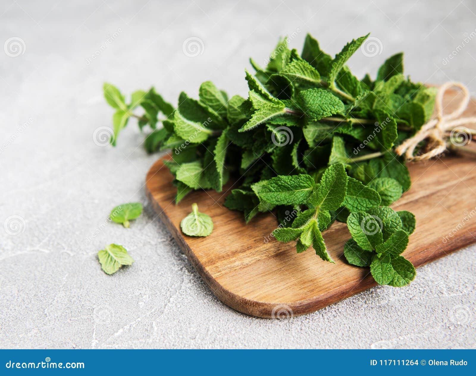 φρέσκια πράσινη μέντα
