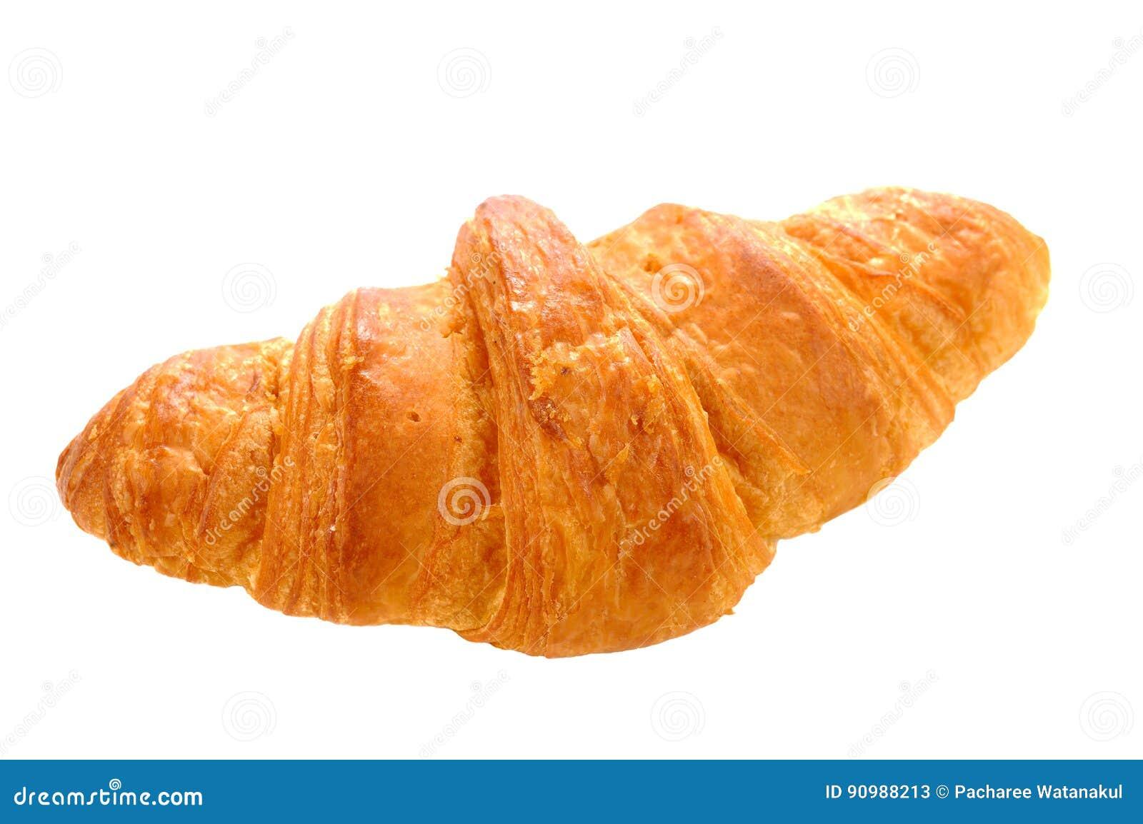 φρέσκος βουτύρου ολόκληρος σίτος croissant στο άσπρο υπόβαθρο