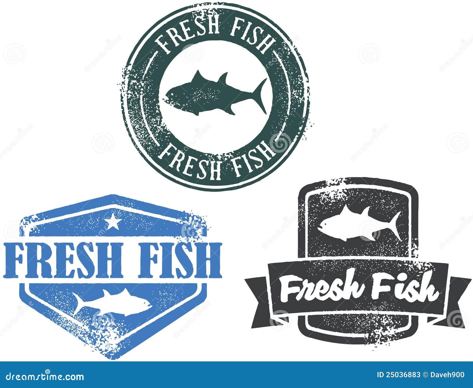 φρέσκος τρύγος γραμματοσήμων θαλασσινών ψαριών