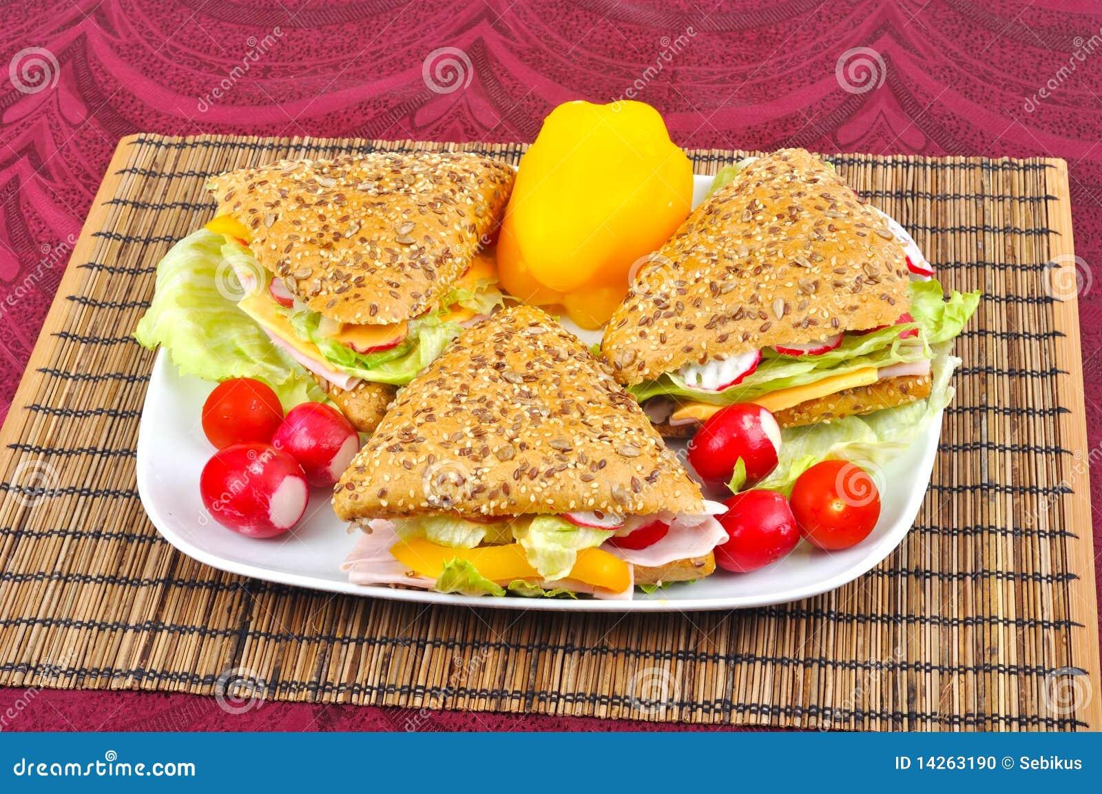 φρέσκο τρίγωνο σάντουιτς