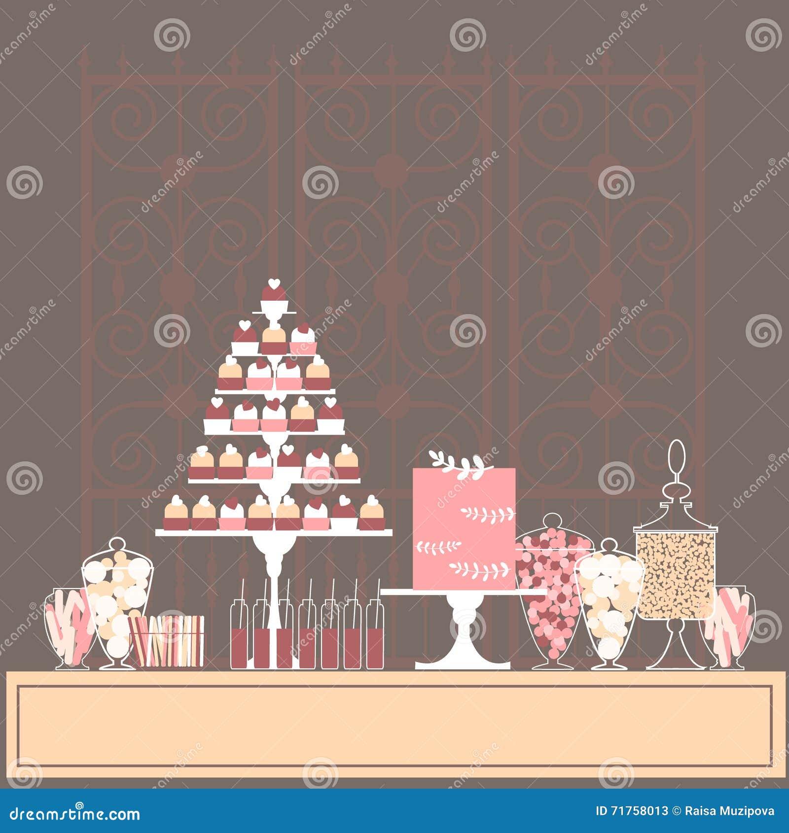 Φραγμός επιδορπίων με τα cupcakes