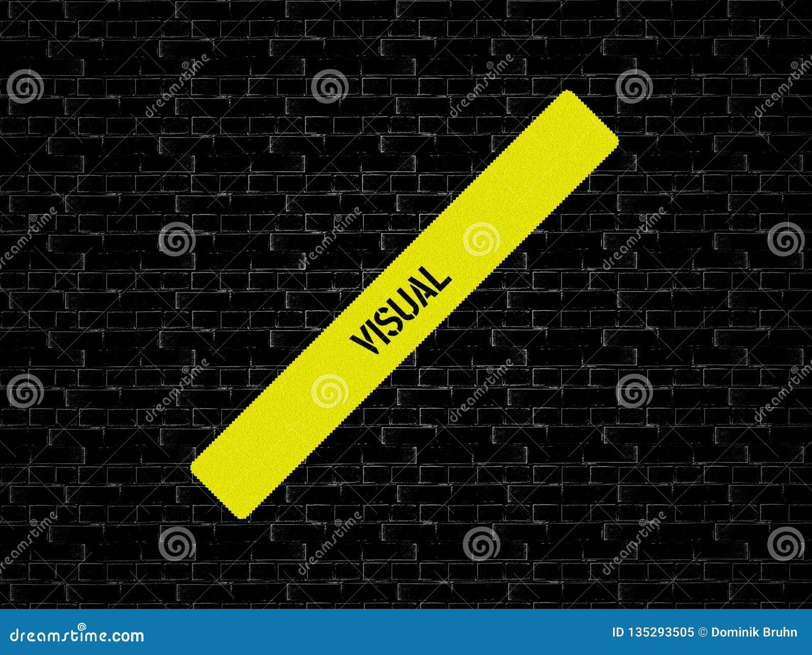 Φραγμός σε κίτρινο η λέξη ΟΠΤΙΚΗ επιδεικνύεται Το υπόβαθρο είναι μαύρο με τα κεραμίδια