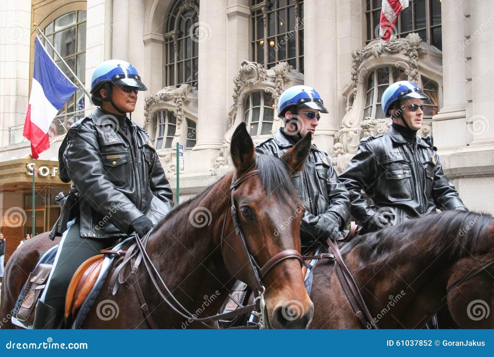Φρουρά αστυνομίας την ημέρα Αγίου Patricks