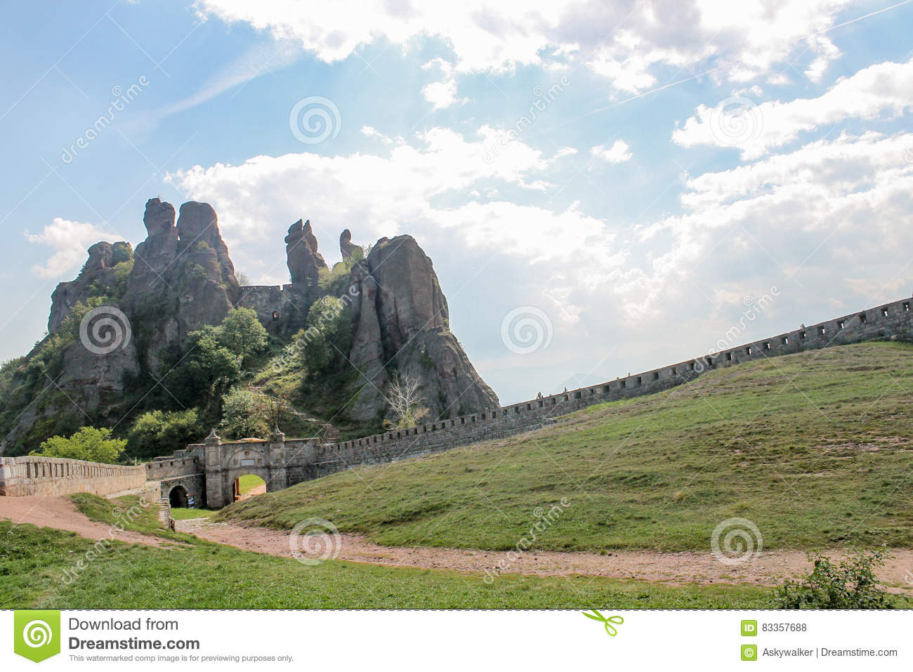 Φρούριο βράχου Belogradchik/skali Belogradchishki