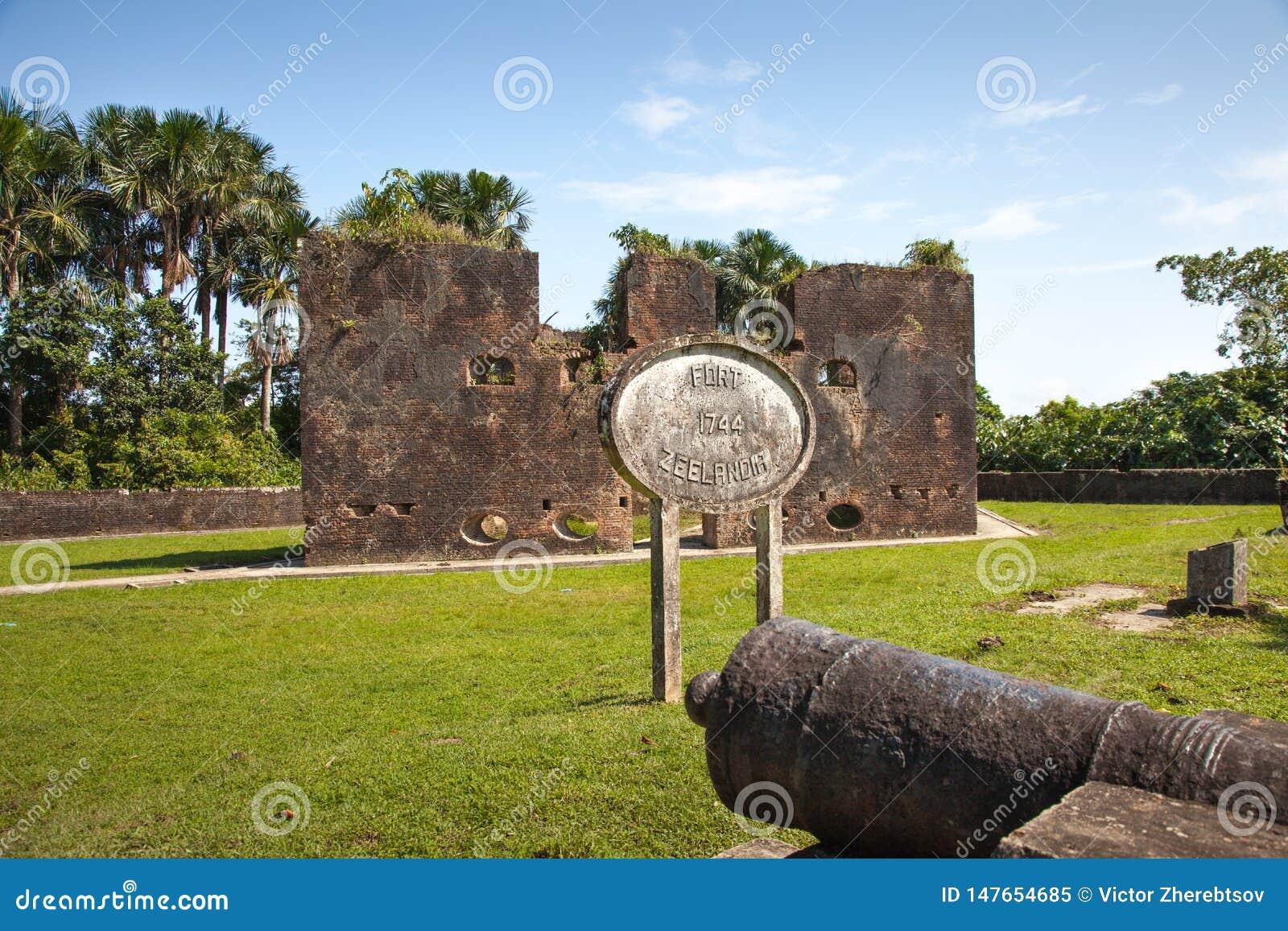Φρούριο Τουβλότοιχοι του οχυρού Zeelandia, Γουιάνα