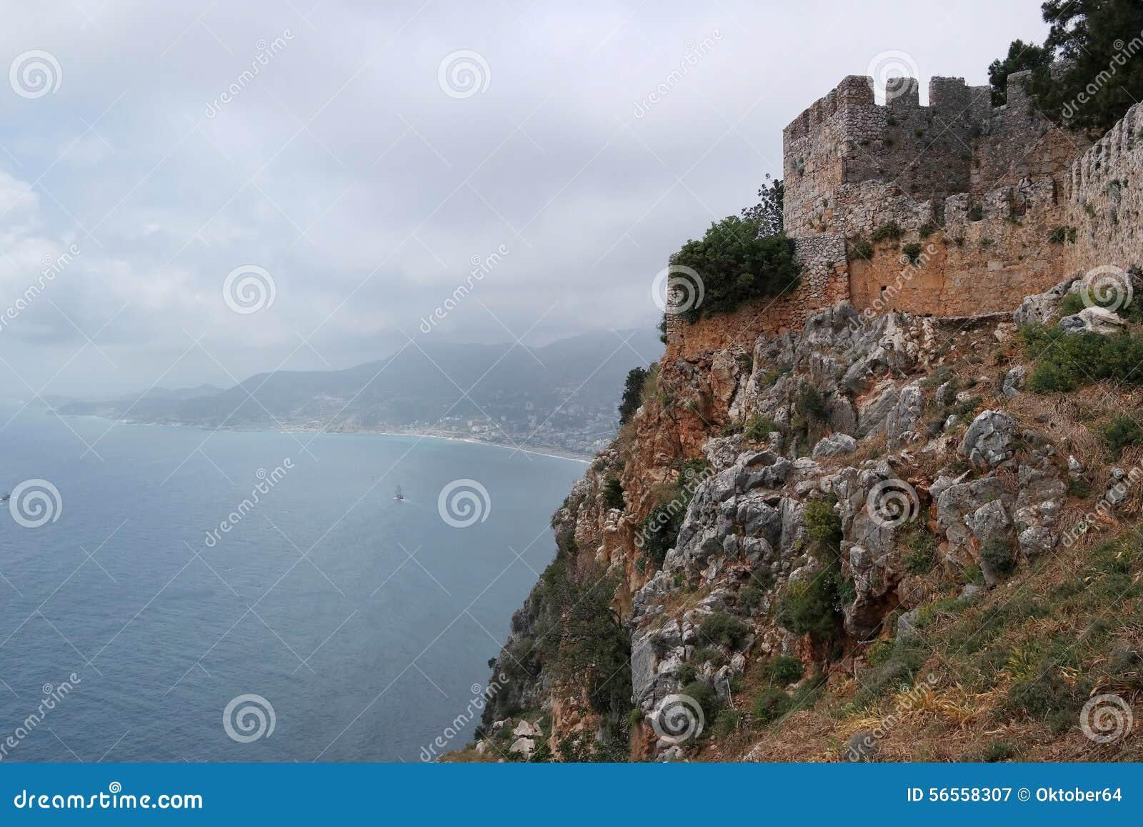 Download Φρούριο Alanya, Τουρκία στοκ εικόνα. εικόνα από τοπίο - 56558307