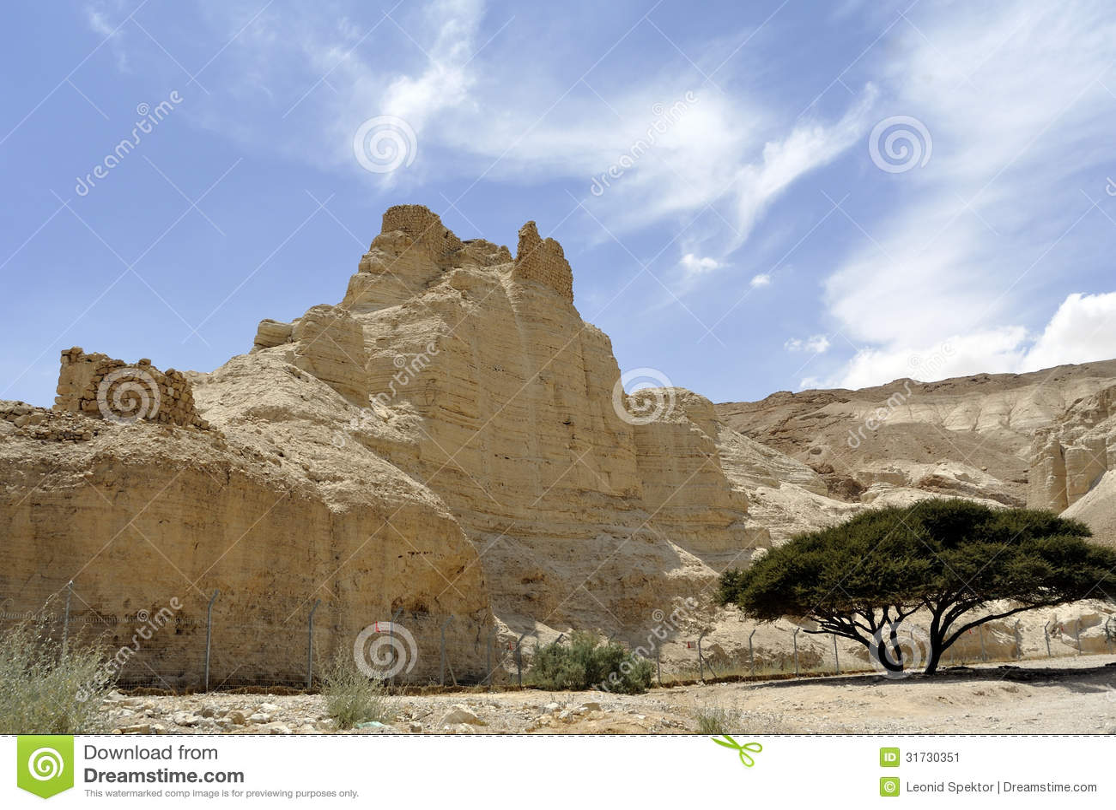 Φρούριο Zohar στην έρημο Judea.