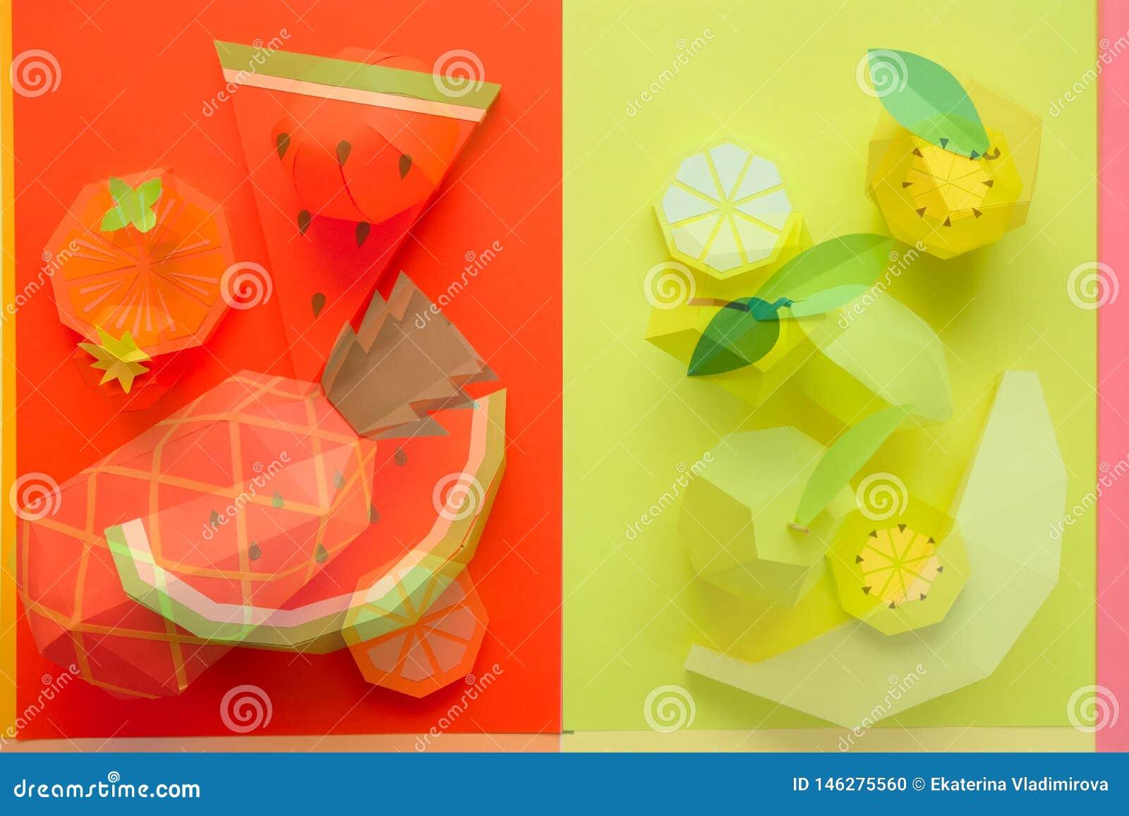 Φρούτα φιαγμένα από έγγραφο r tropics r