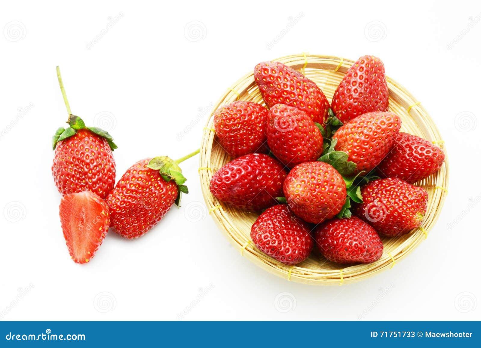Φρούτα φραουλών στο κιβώτιο