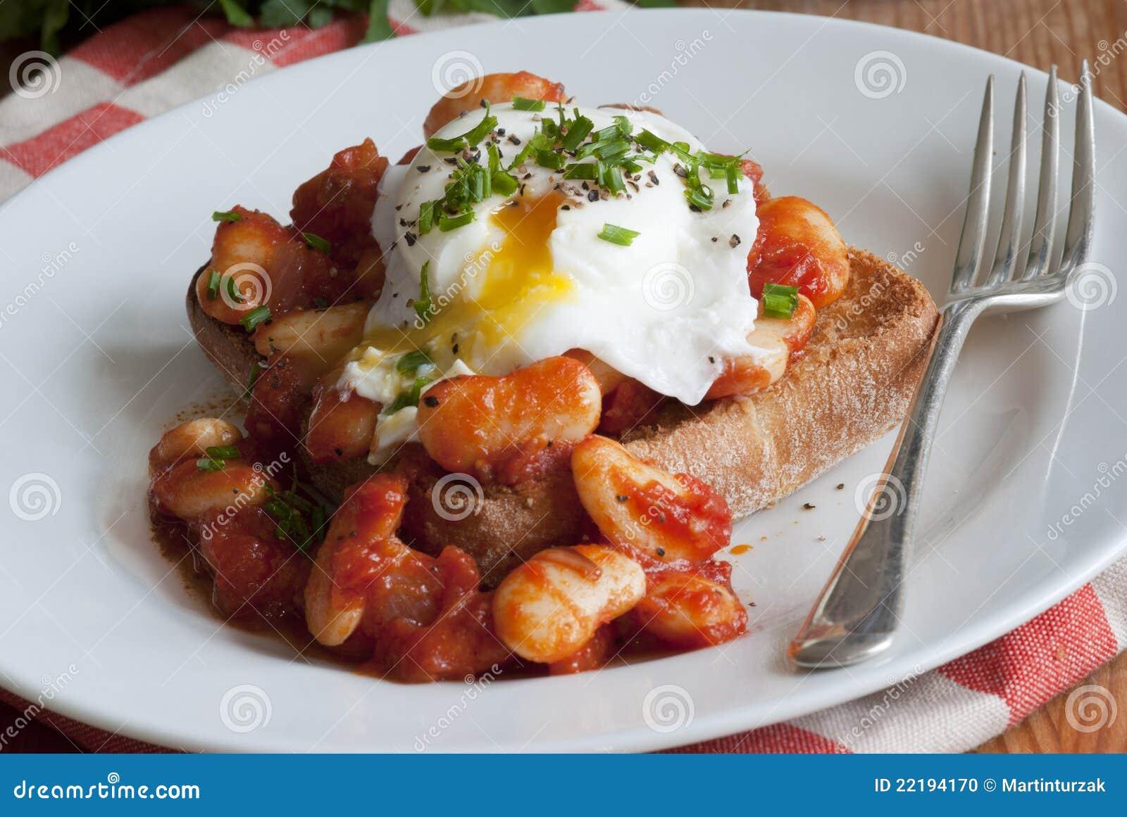 φρυγανιά αυγών φασολιών