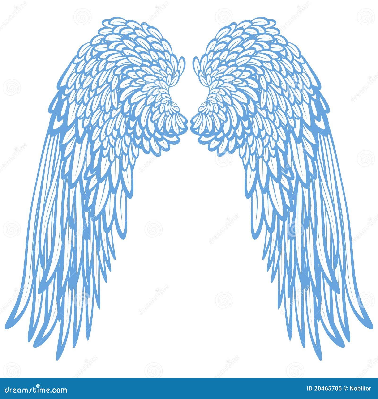 φτερά ζευγαριού αγγέλων