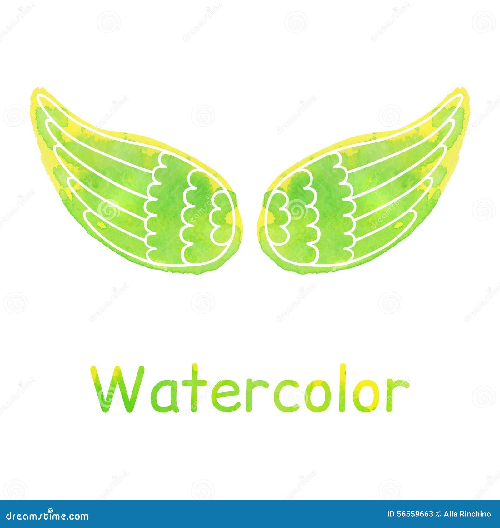 Download Φτερά Watercolor διανυσματική απεικόνιση. εικονογραφία από έξυπνο - 56559663