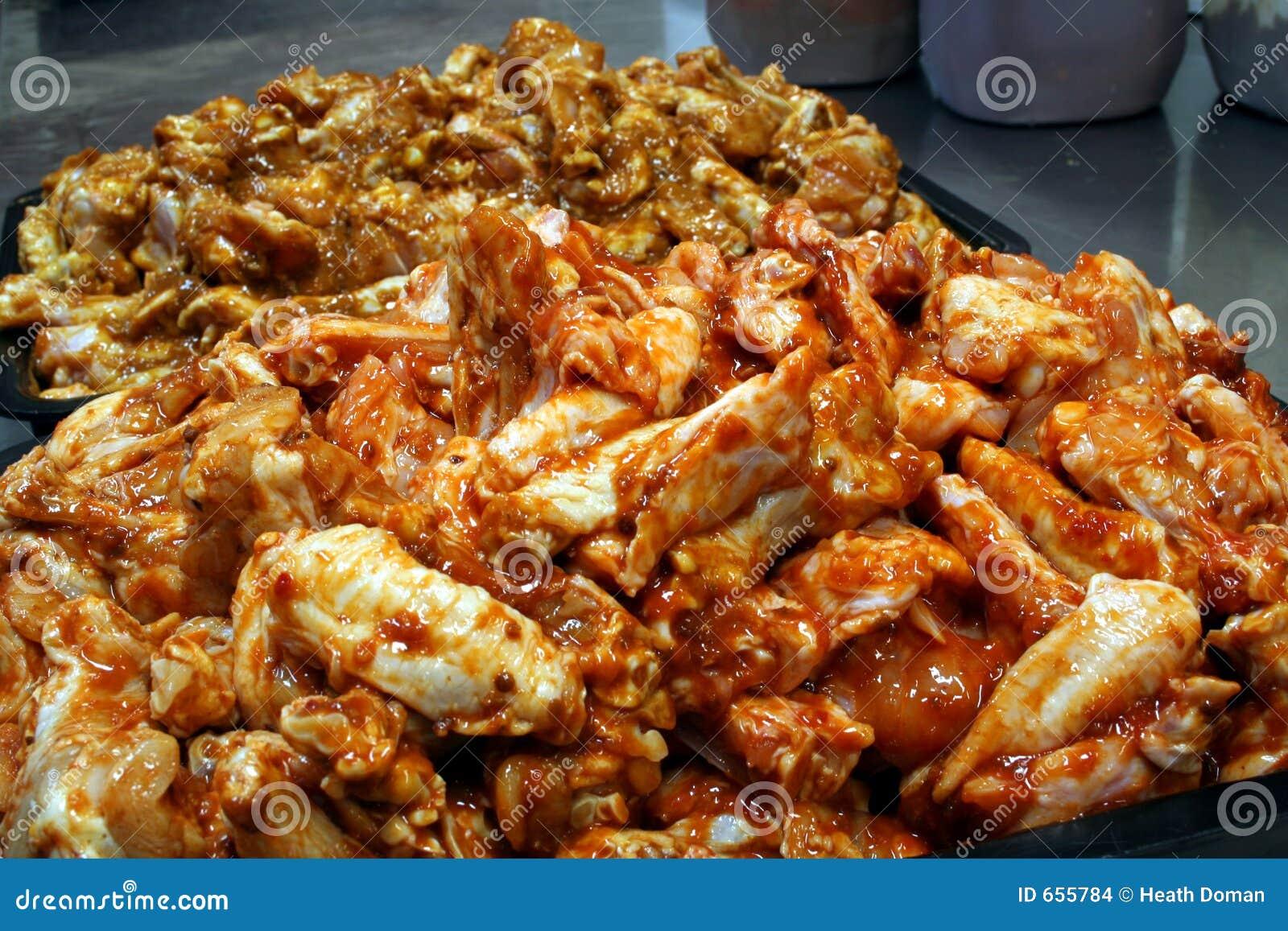φτερό preperation 3 κοτόπουλου