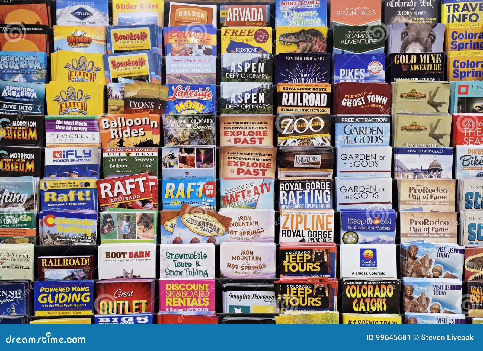 Φυλλάδια τουριστών του Κολοράντο