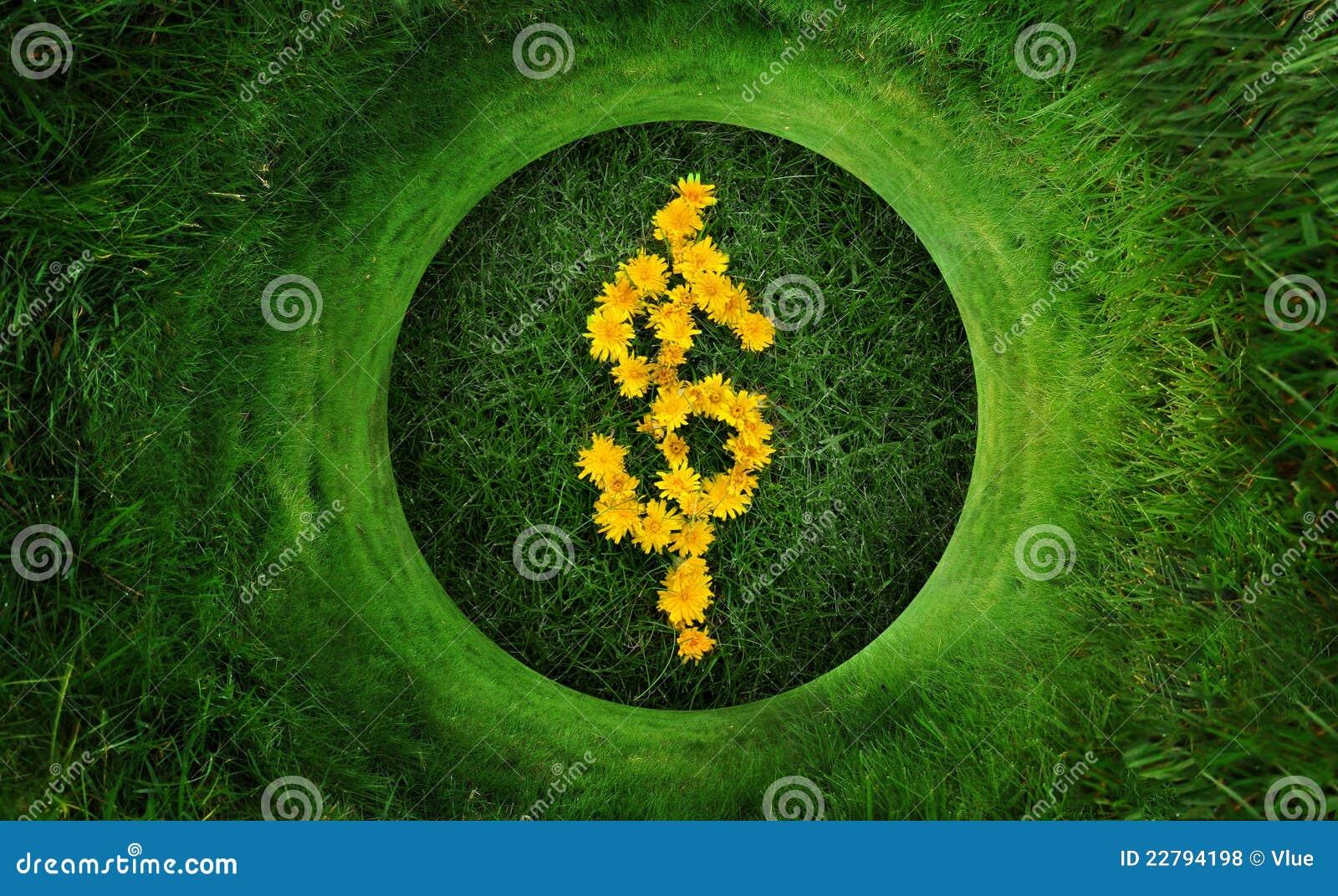 φυσικό σύμβολο χρημάτων δολαρίων πράσινο