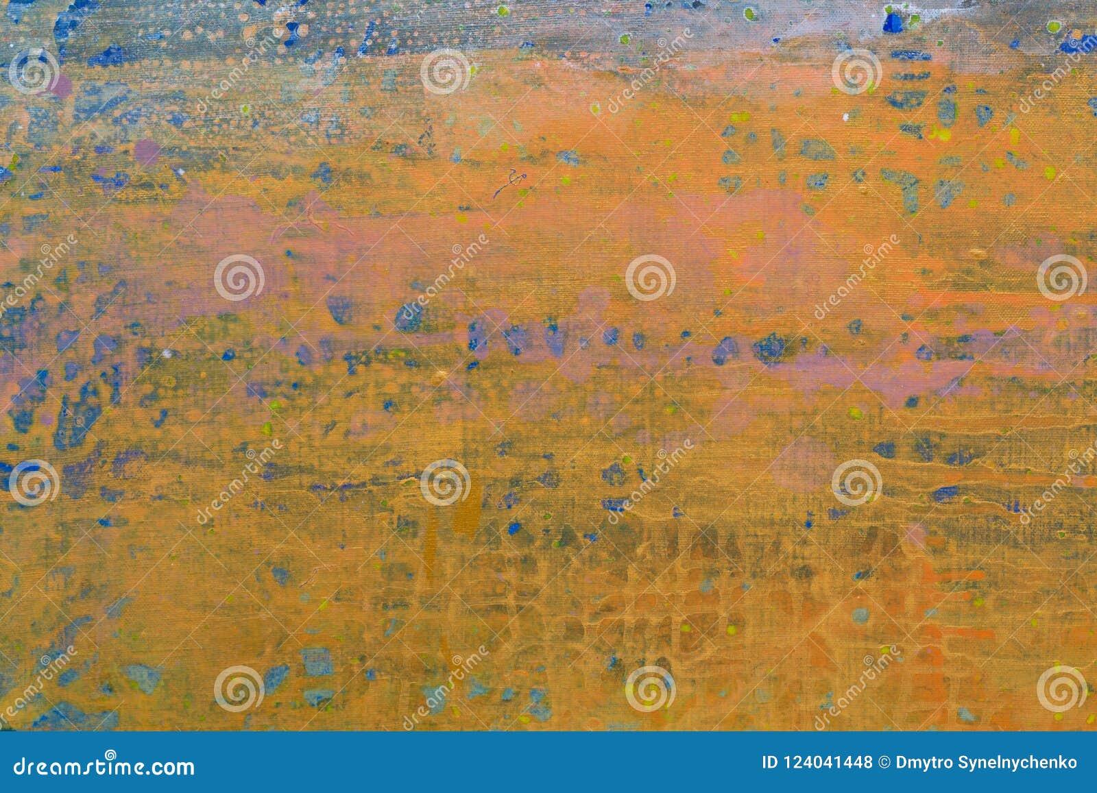 Φωτεινή αφηρημένη ζωγραφική στο διαφορετικό ύφος κοντά επάνω